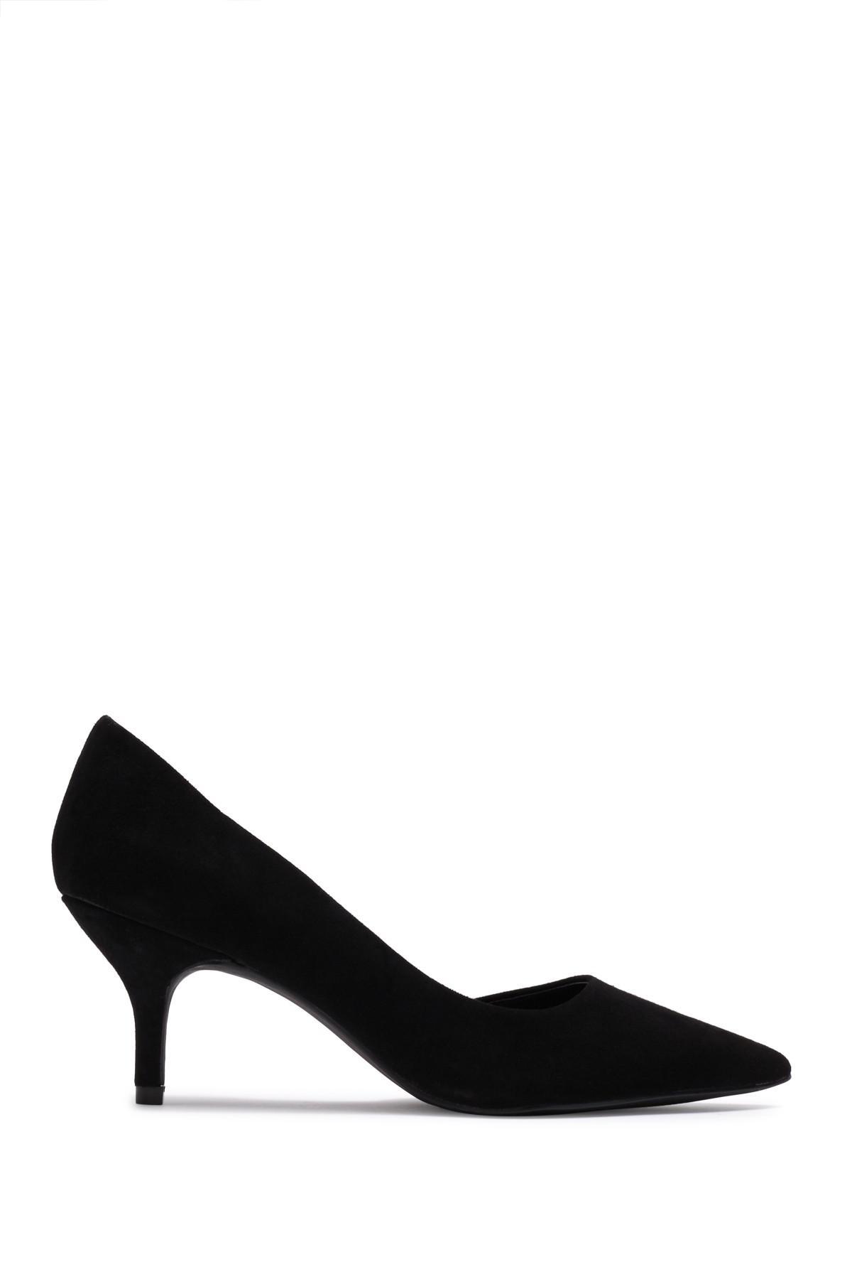 1c736a3ca60 Steve Madden - Black Flory Suede Kitten Heel Pump - Lyst. View fullscreen