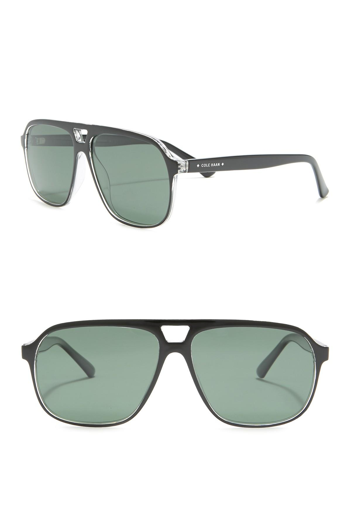 e30516ee254f Cole Haan - Multicolor Aviator 58mm Polarized Sunglasses for Men - Lyst.  View fullscreen