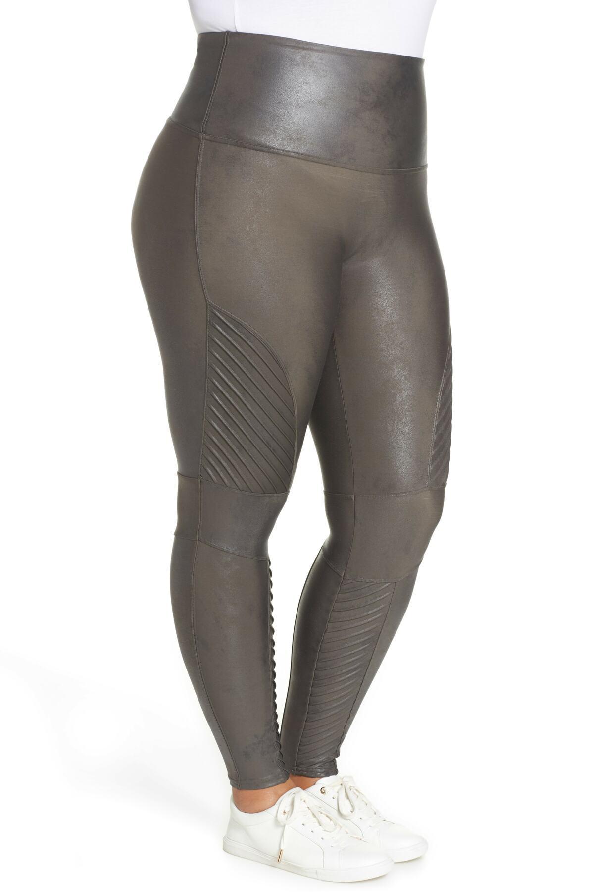 11a23c12bb3465 Spanx High Waist Moto Leggings (plus Size) in Gray - Lyst