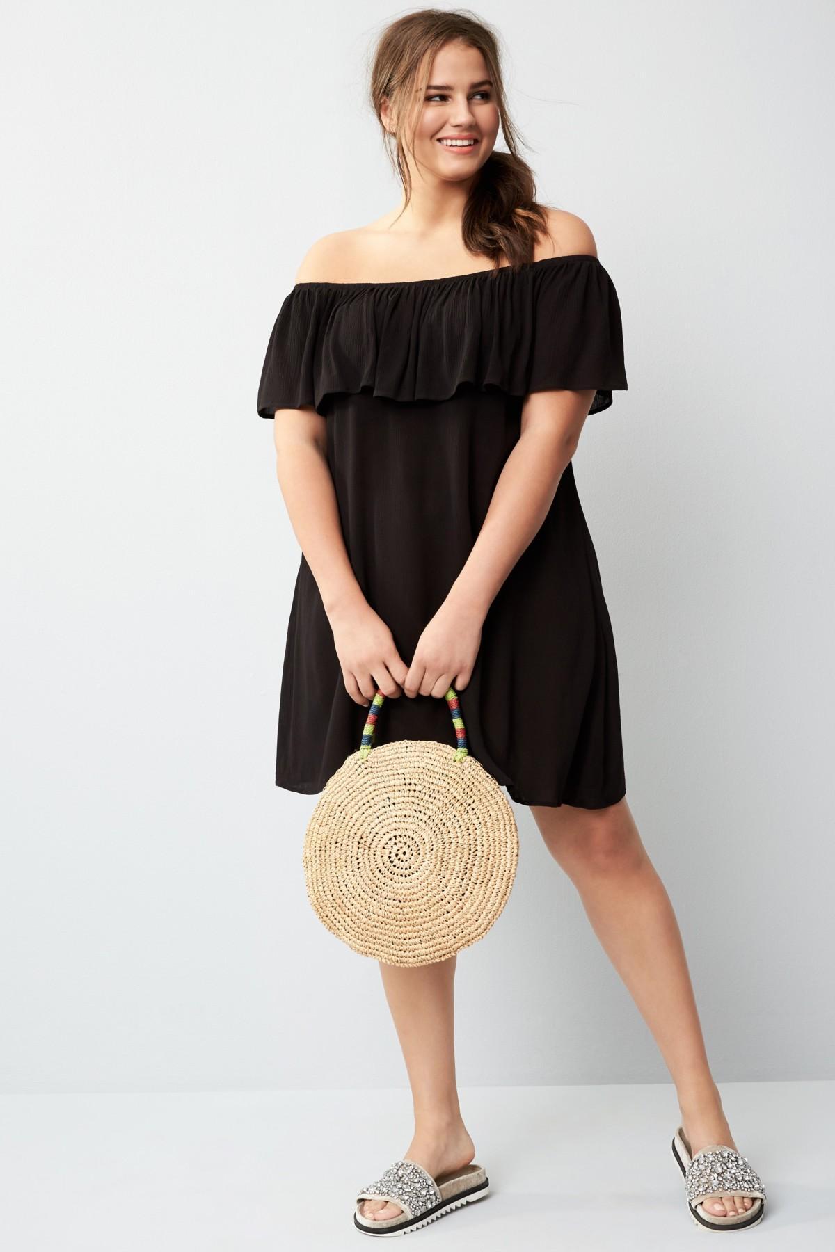 Becca Black Southern Belle Off-the-shoulder Cover-up Dress (plus Size)