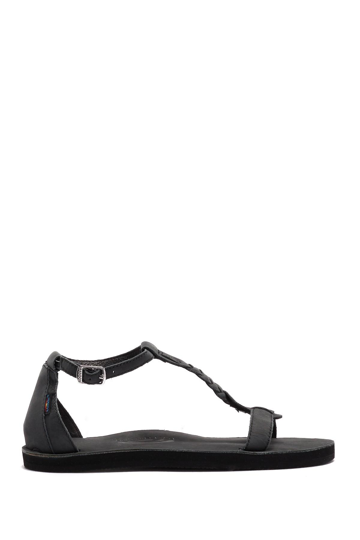 9c2fb32a11b Rainbow Sandals - Black Calafia Single Layer Center Braid Heel - Lyst. View  fullscreen