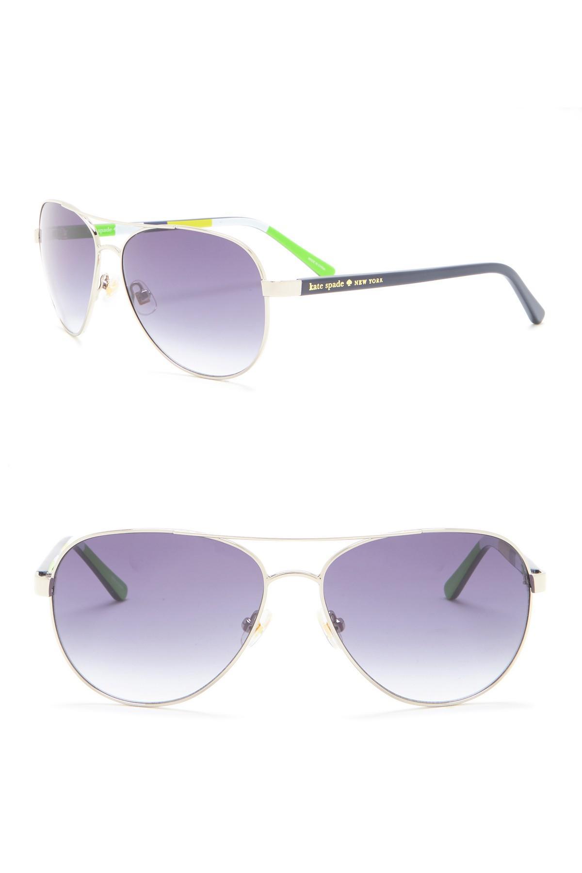 ec8495ca478 Lyst - Kate Spade 58mm Blossom Aviator Sunglasses in Purple