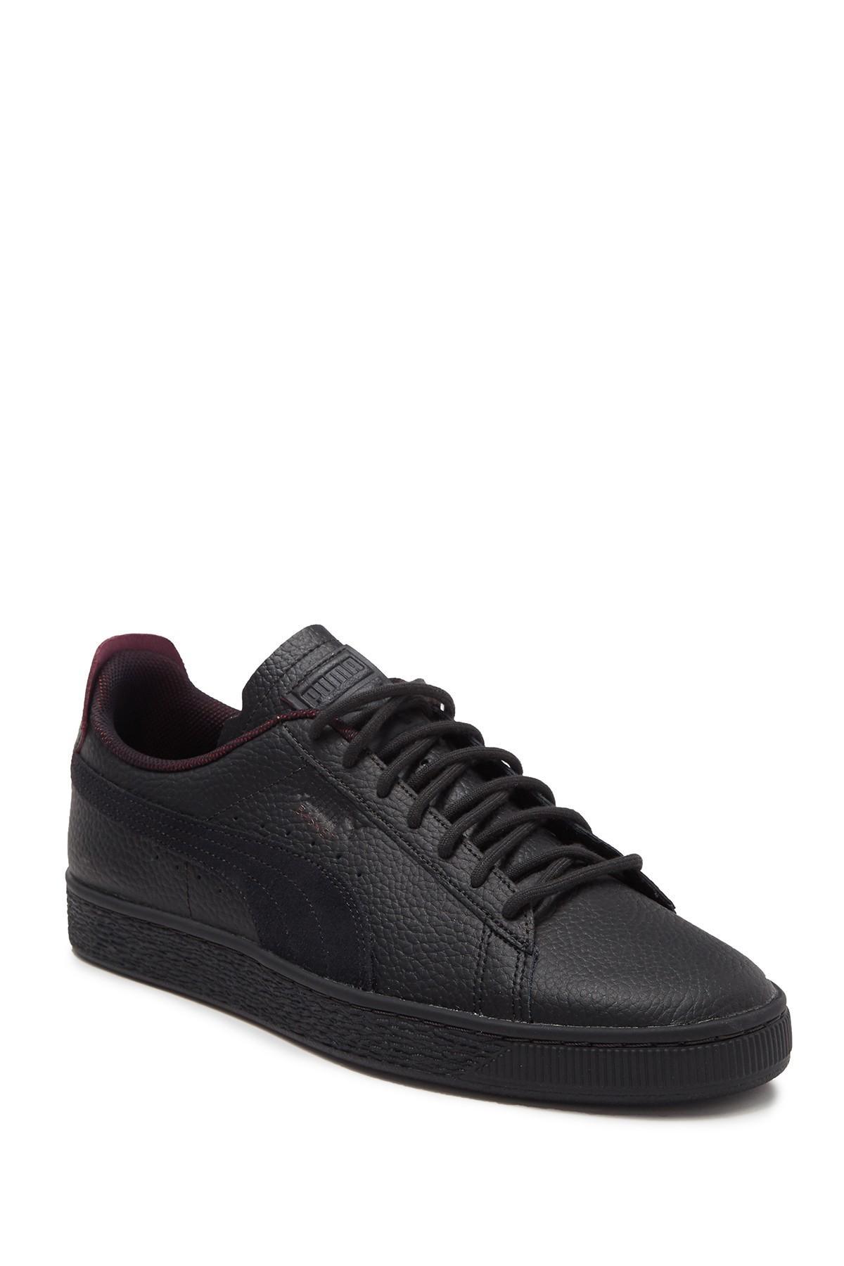 PUMA Scuderia Ferrari Basket Leather Sneaker in Black for Men - Lyst