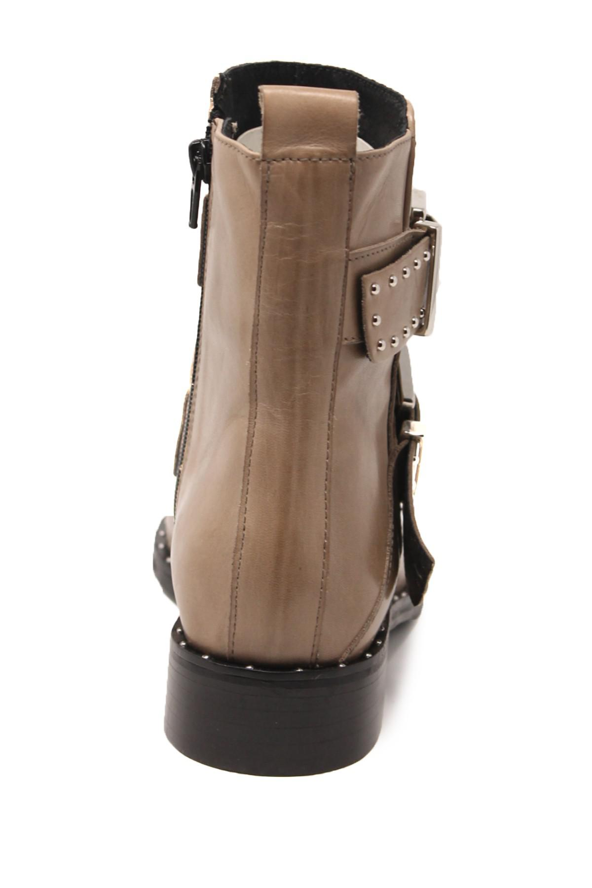 Charles David Clark Studded Leather Boot In Taupe Le Brown Lyst