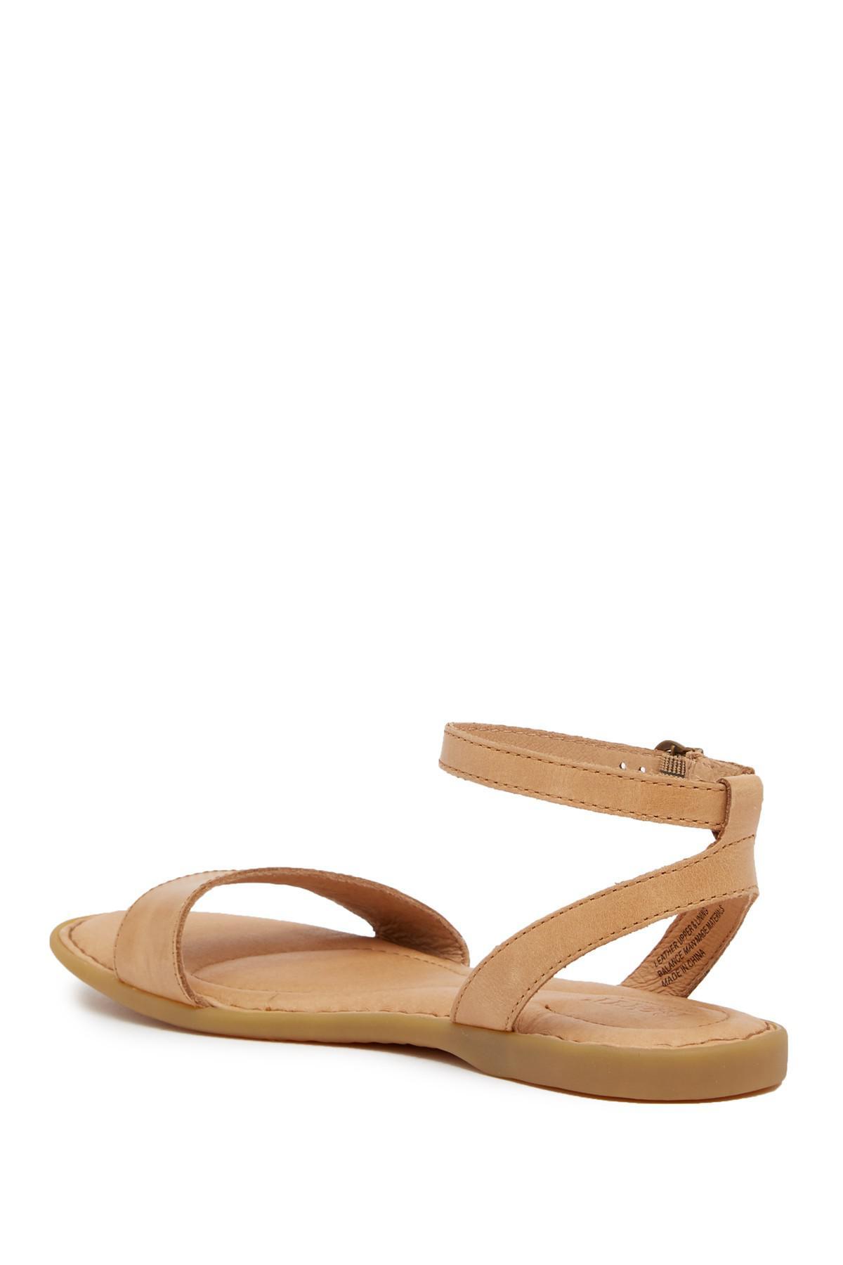 ca85cf0092b6 Born - Brown Alice Ankle Strap Sandal - Lyst. View fullscreen