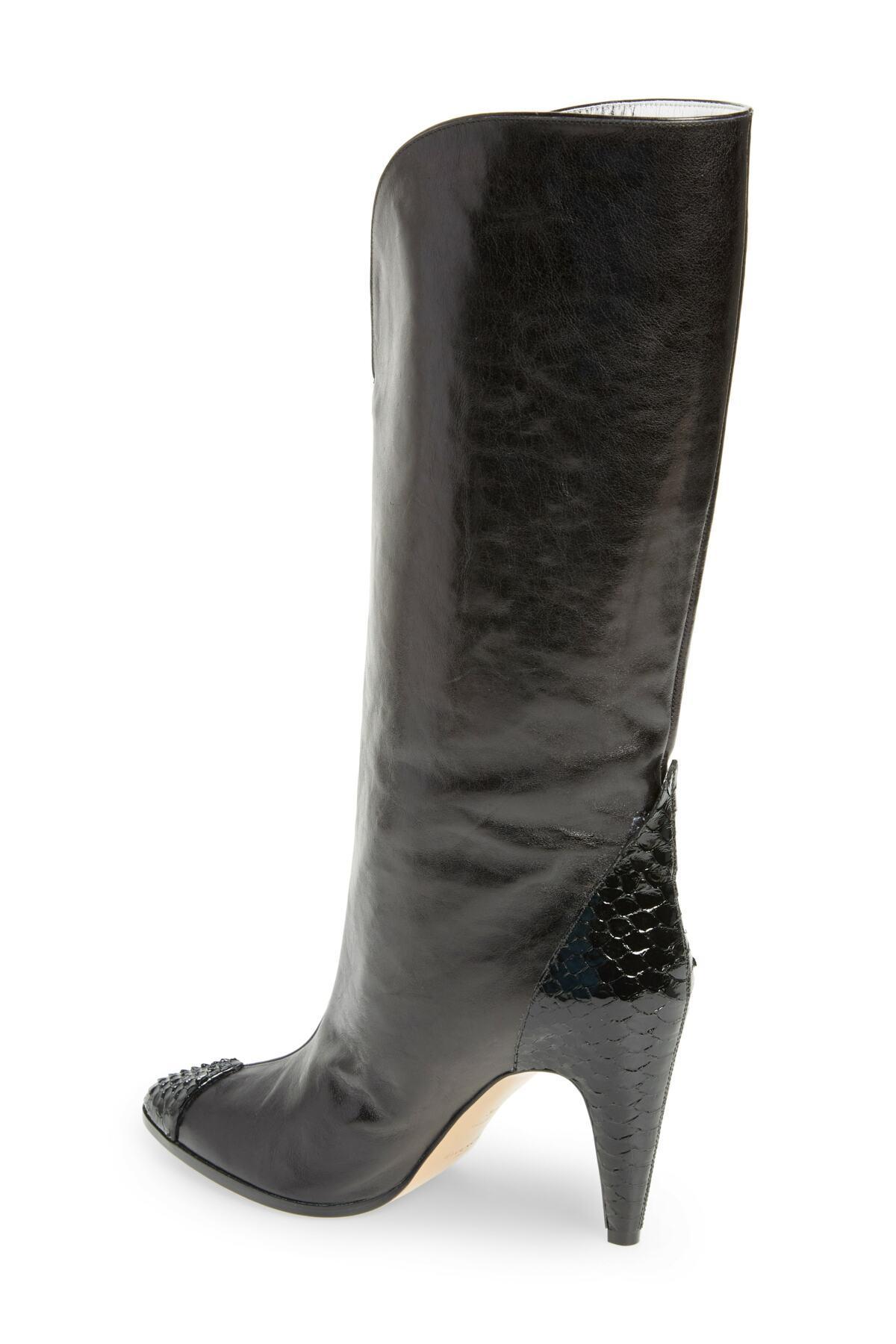 9c6affdcd68 Givenchy Black Kangaroo Leather & Genuine Python Boot (women)