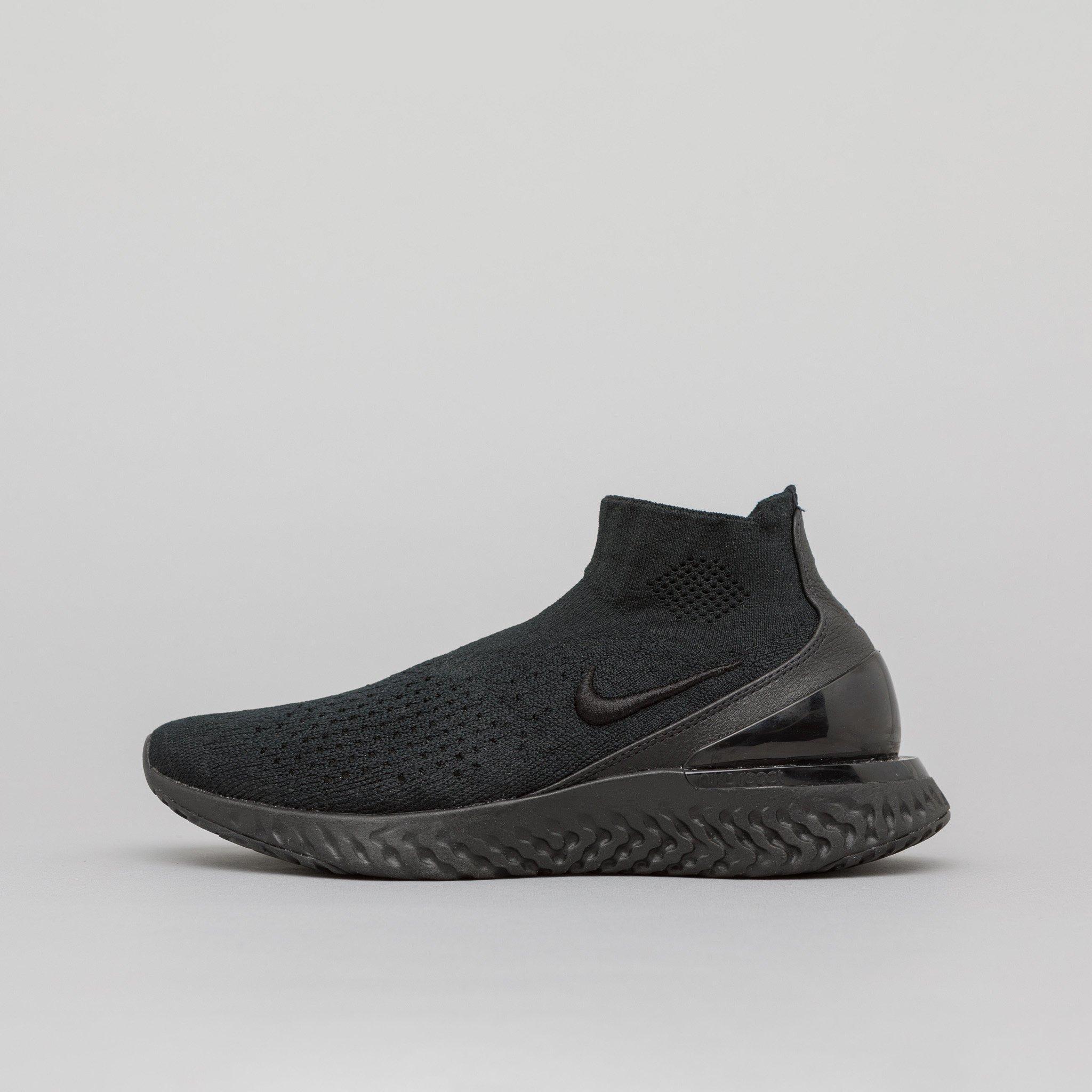 04ff31e588a Lyst - Nike Women s Rise React Flyknit In Black in Black for Men