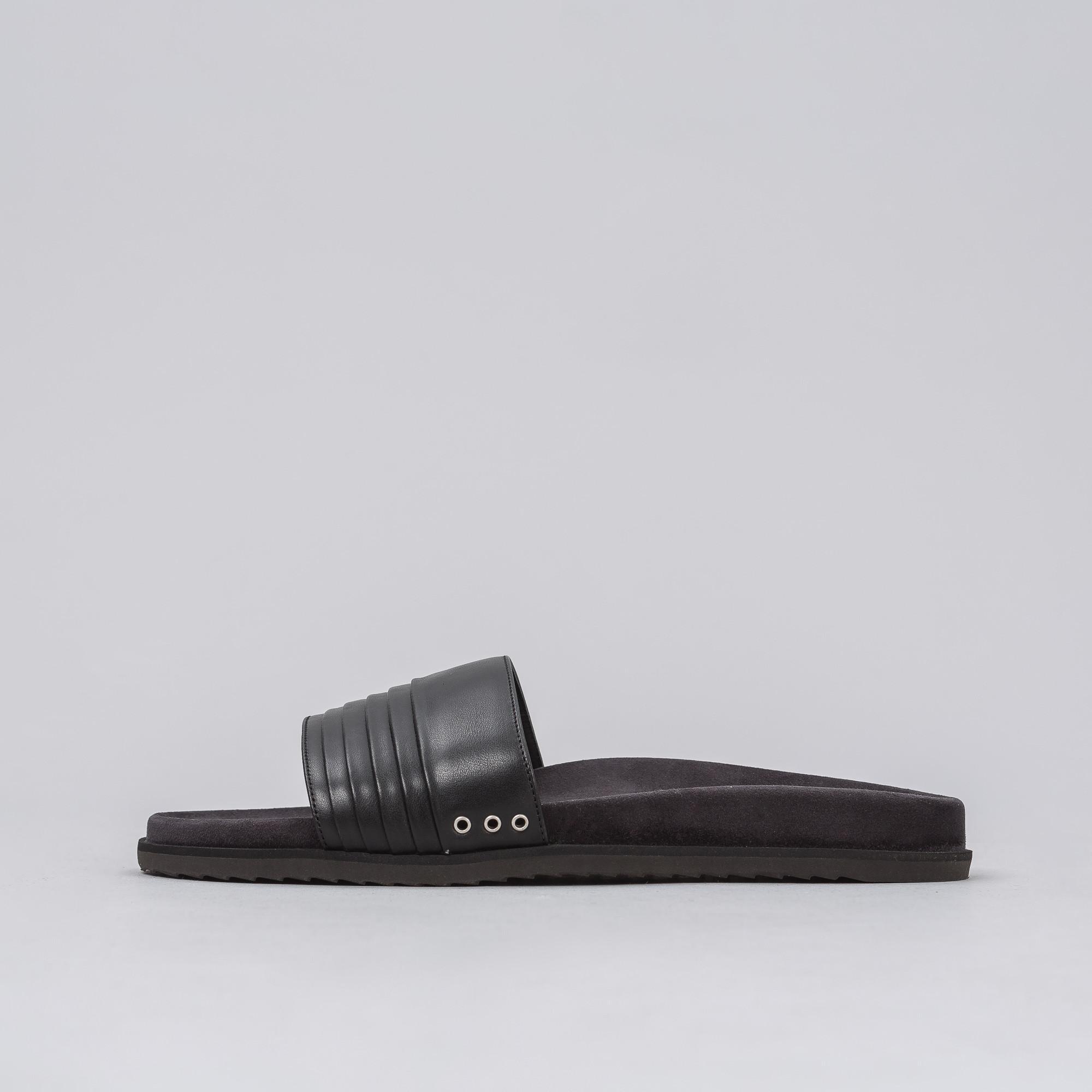 97c433718c1a Lyst - John Elliott Leather Sandal In Black in Black for Men