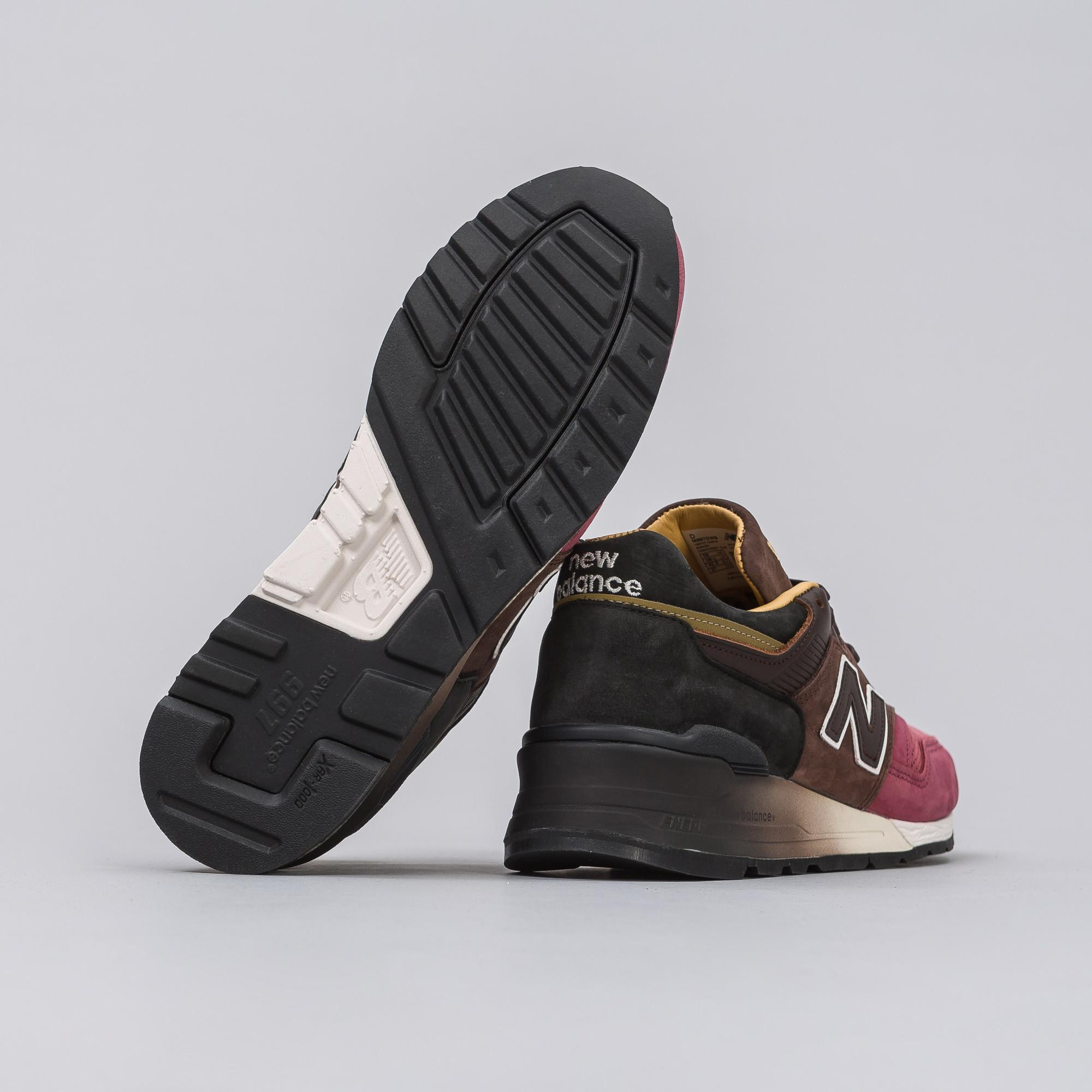 093cc0d6a4a17 New Balance M997dwb In Black/brown/radish in Brown for Men - Lyst
