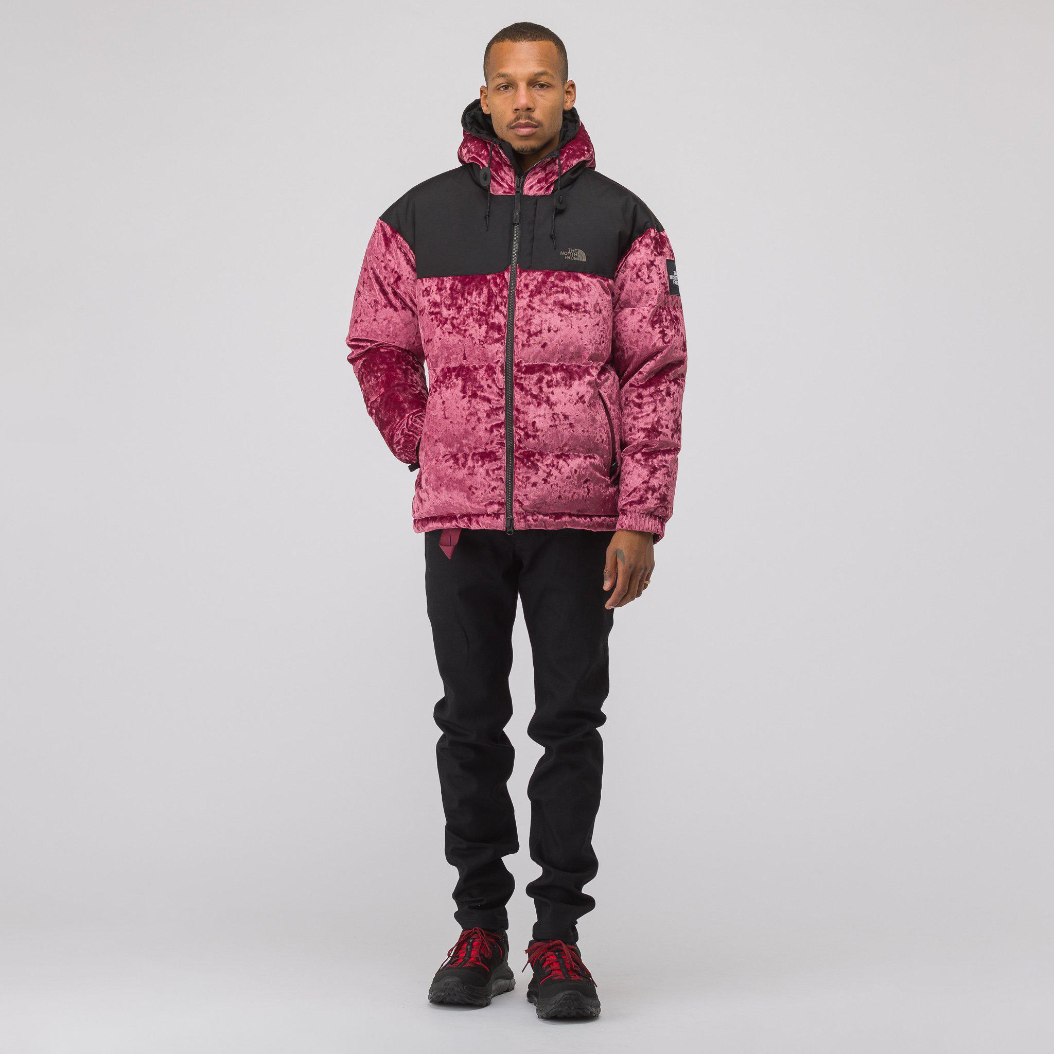6c1d068fb The North Face Velvet Nuptse Jacket In Regal Red for men
