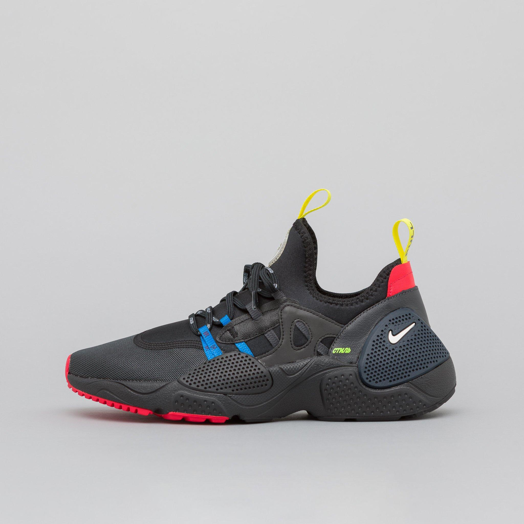 Heron Preston x Nike Huarache E.D.G.E. Black Red Blue New Sale