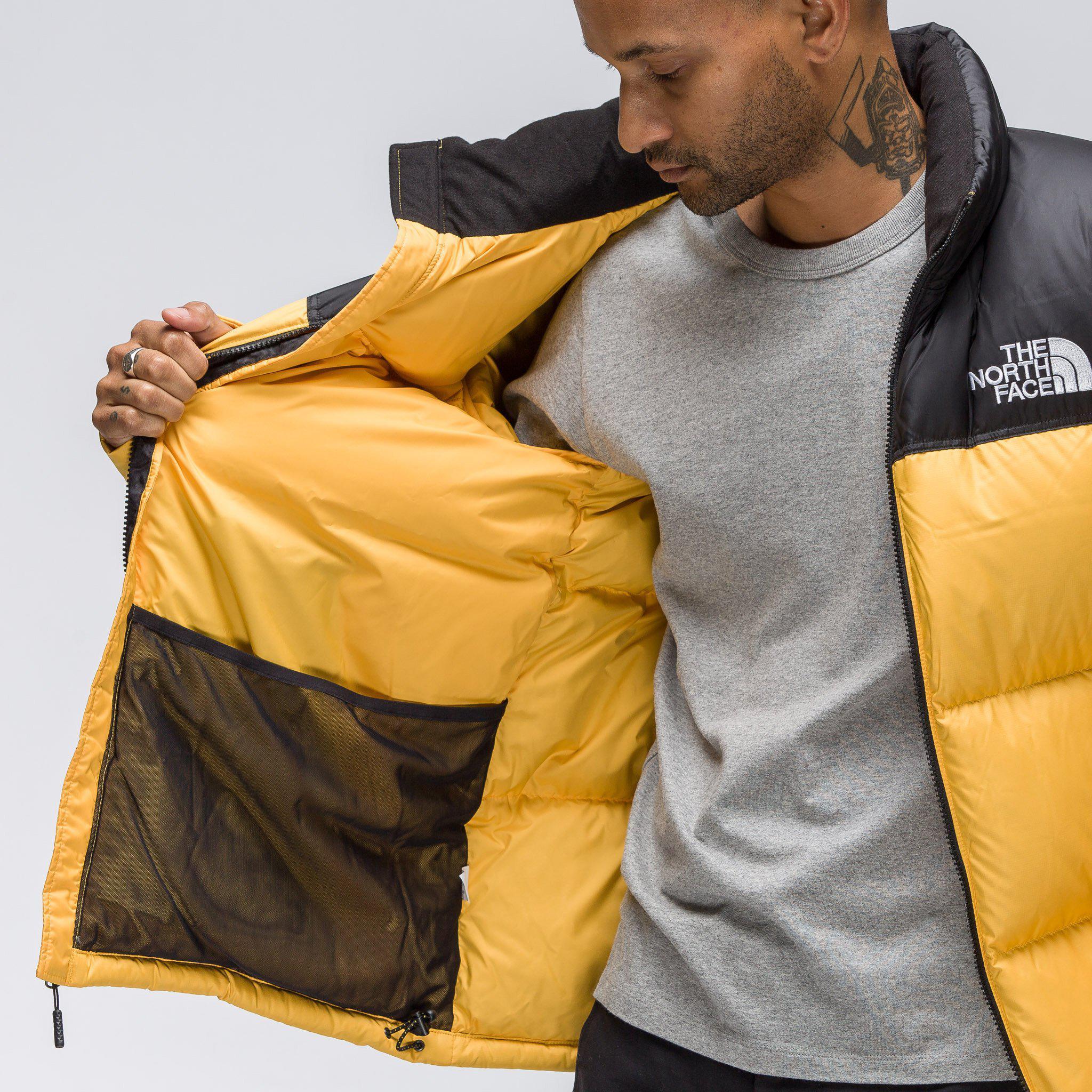 7668ae384 Men's Novelty Nuptse Jacket In Yellow