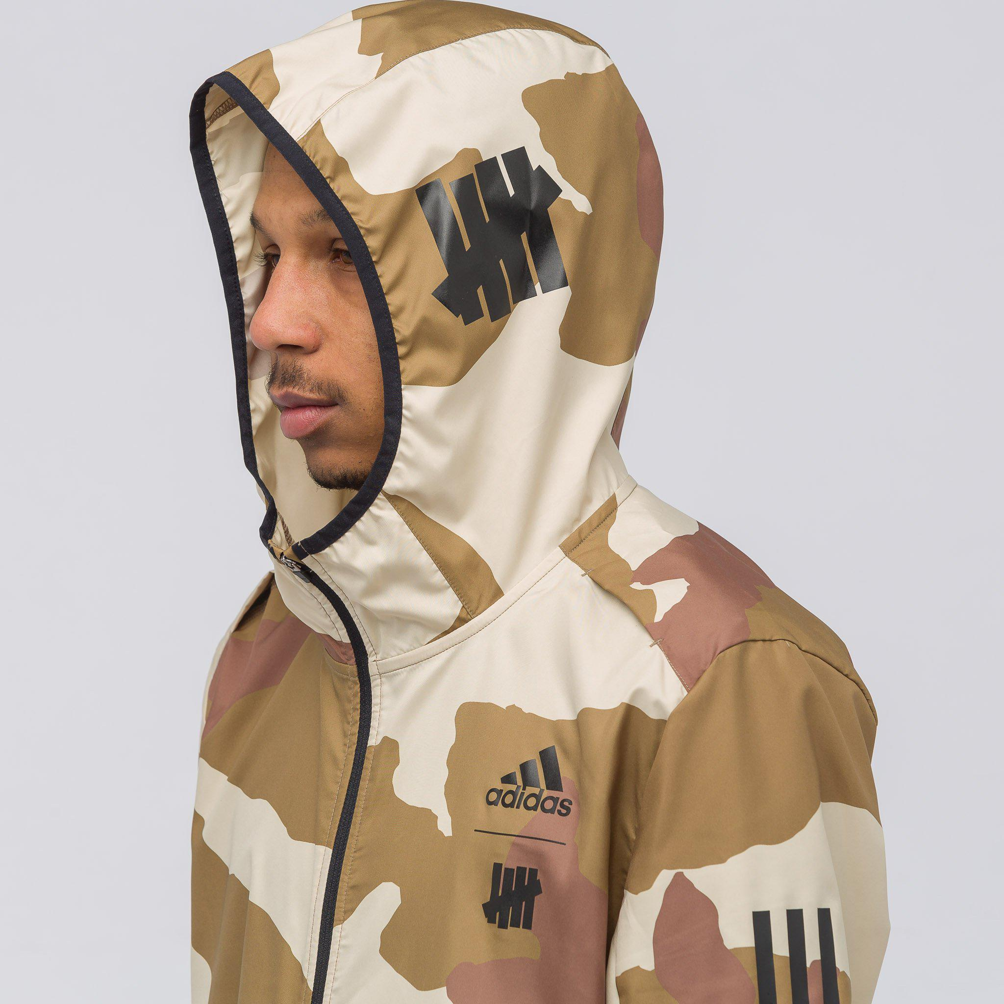 Adidas Multicolor X Undefeated Response Hooded Wind Jacket In Dune Camo for men