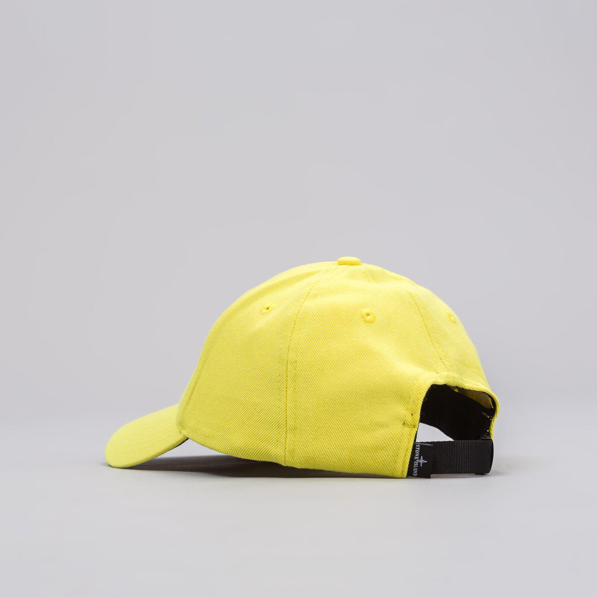 a78676bb2a Lyst - Stone Island 99175 Hat In Lemon in Yellow for Men