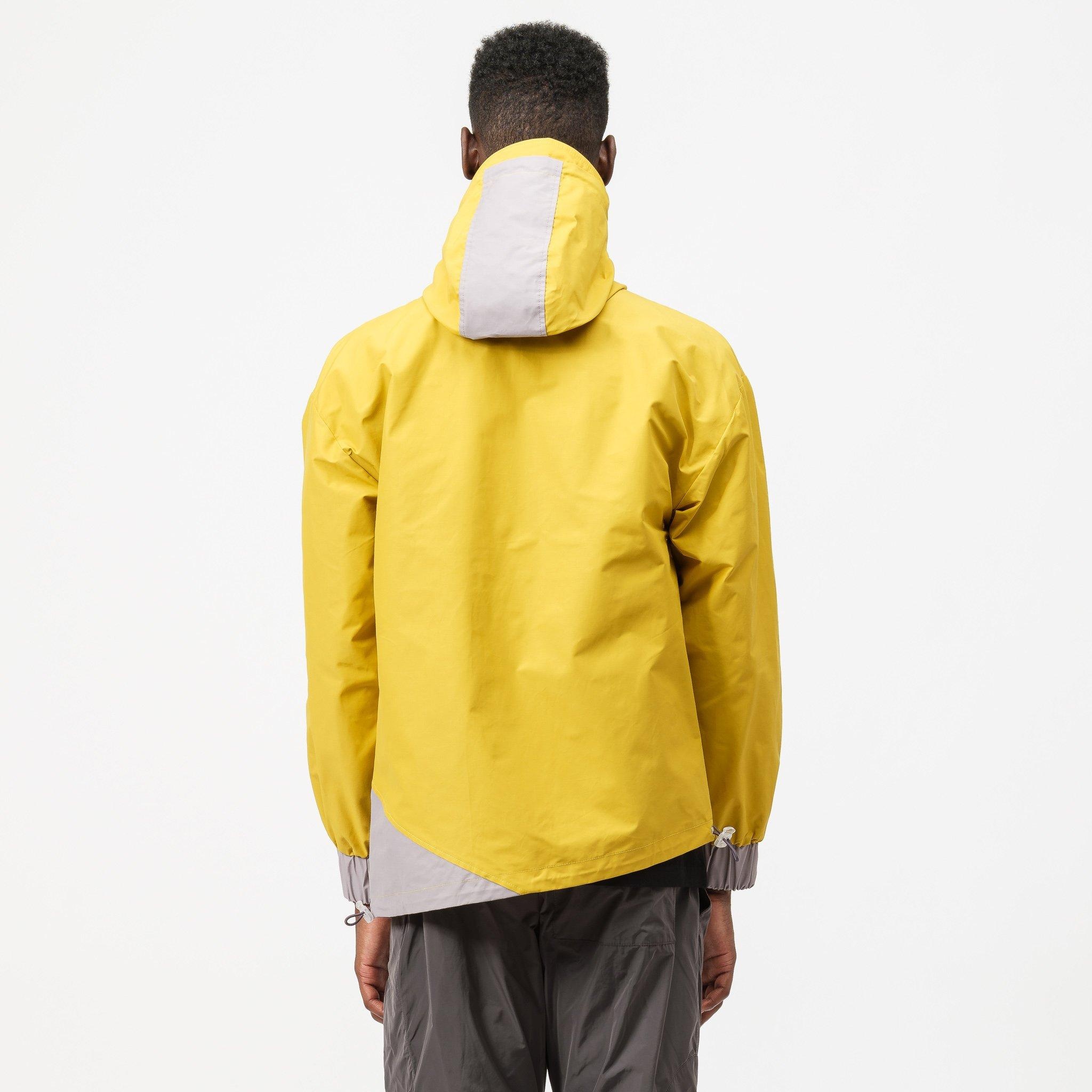 MENS A COLD WALL HOODED ASYMETRICAL JACKET WITH VISOR OCHRE RRP £795 SA2