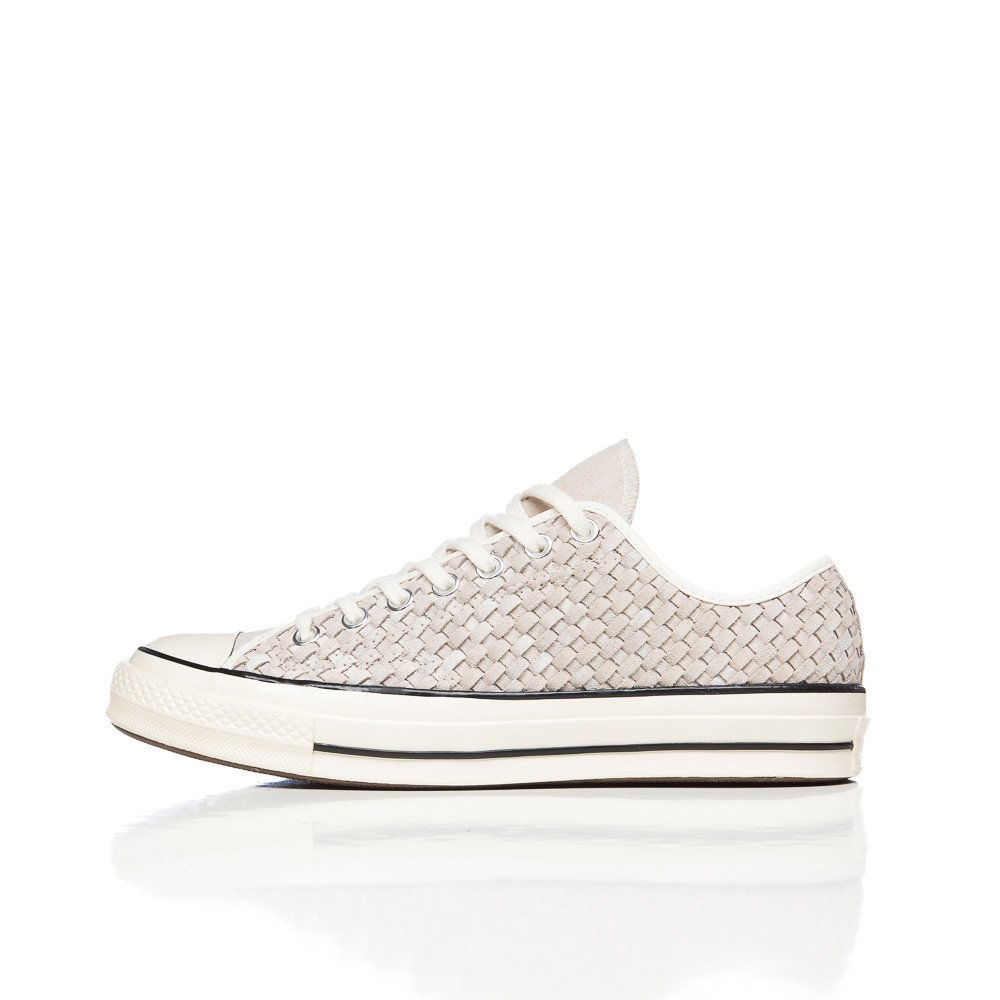 906a8dc98cfc Lyst - Converse Chuck Taylor All Star 70 Low In White Woven Suede in ...