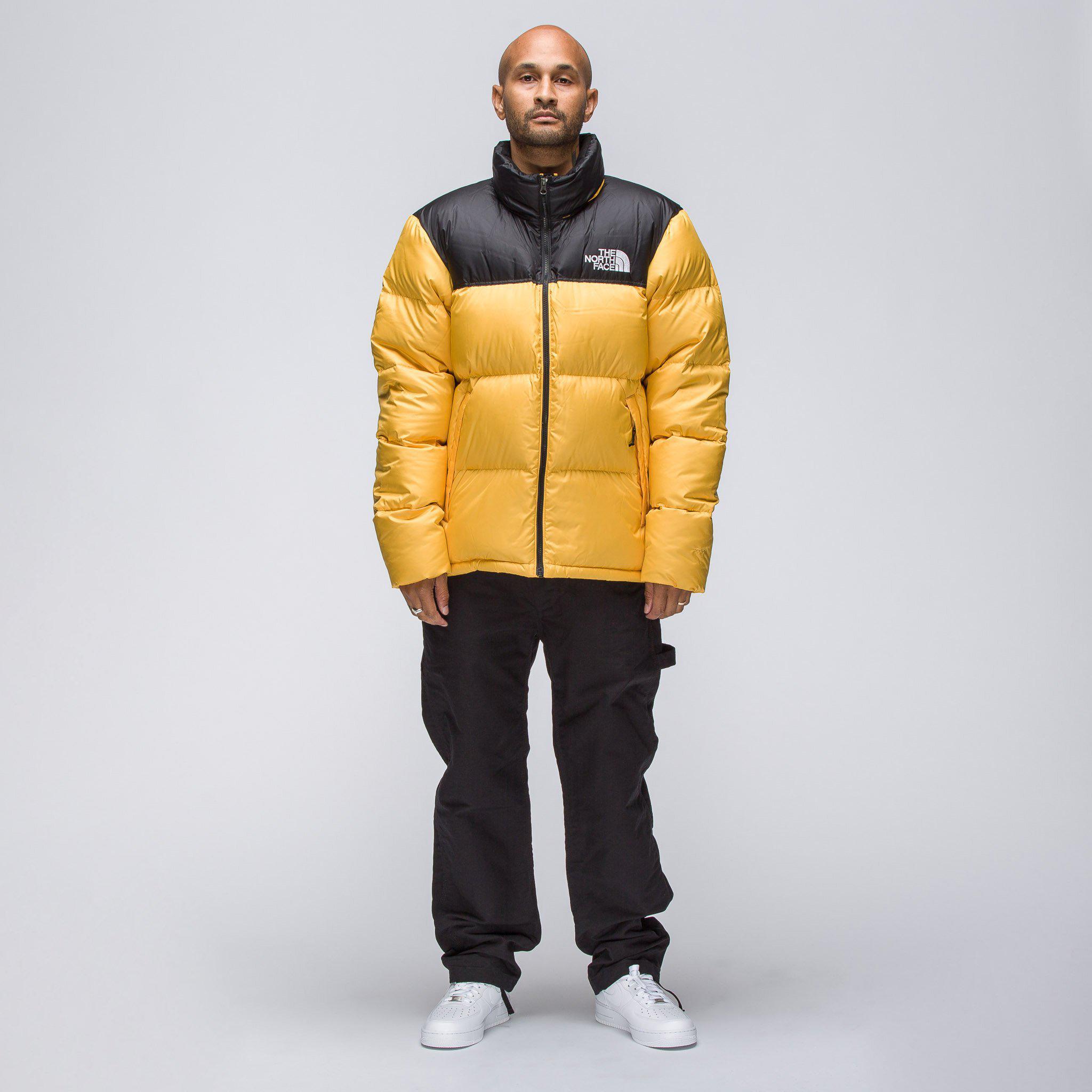 0823c8b2d Men's Novelty Nuptse Jacket In Yellow