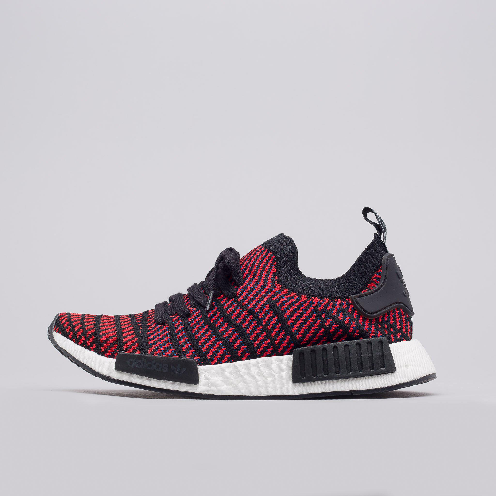 Lyst - adidas Nmd R1 Primeknit Stlt In Core Black red blue in Red ... 151b9d66e38b