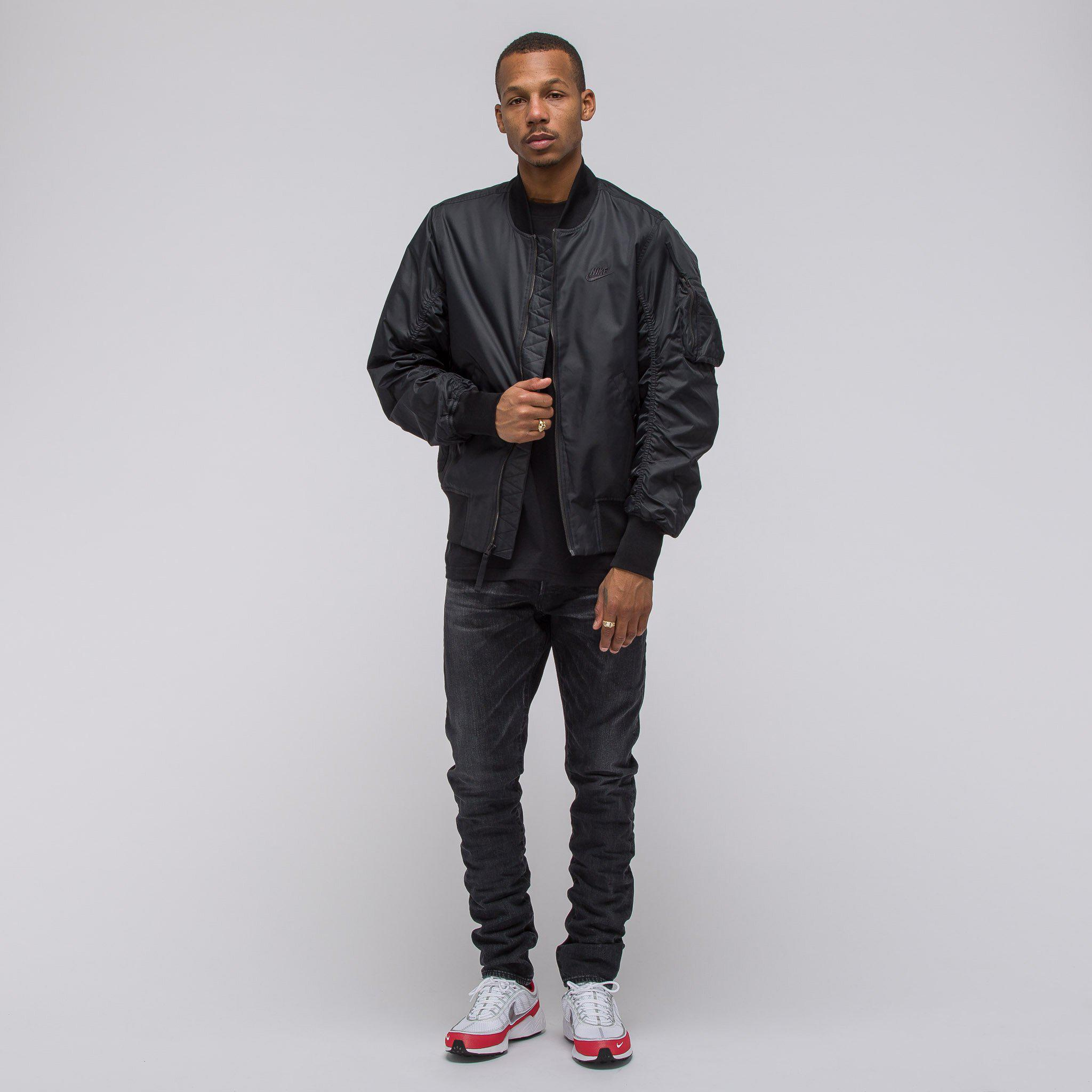 2af22135c Nike Sportswear Woven Air Force 1 Jacket In Black for men