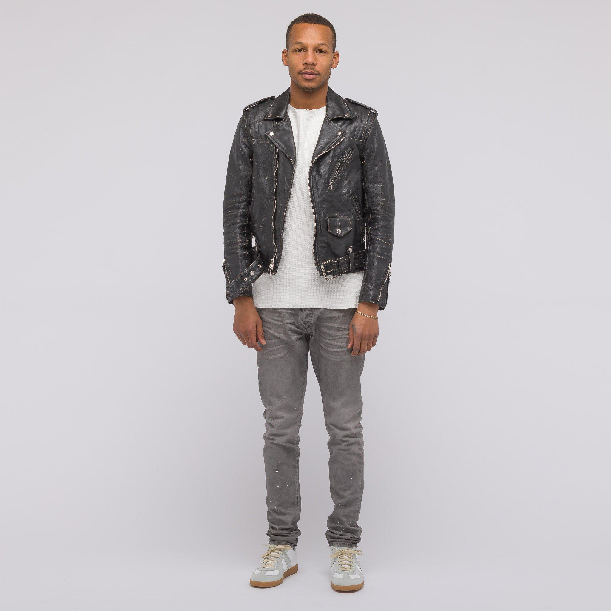 Clearance Newest Mens Yuji Distressed Leather Varsity Jacket John Elliott + Co Cheap Clearance Largest Supplier Sale Online Cheap Sale Low Price Fee Shipping Shop Offer Cheap Online mGTzHk
