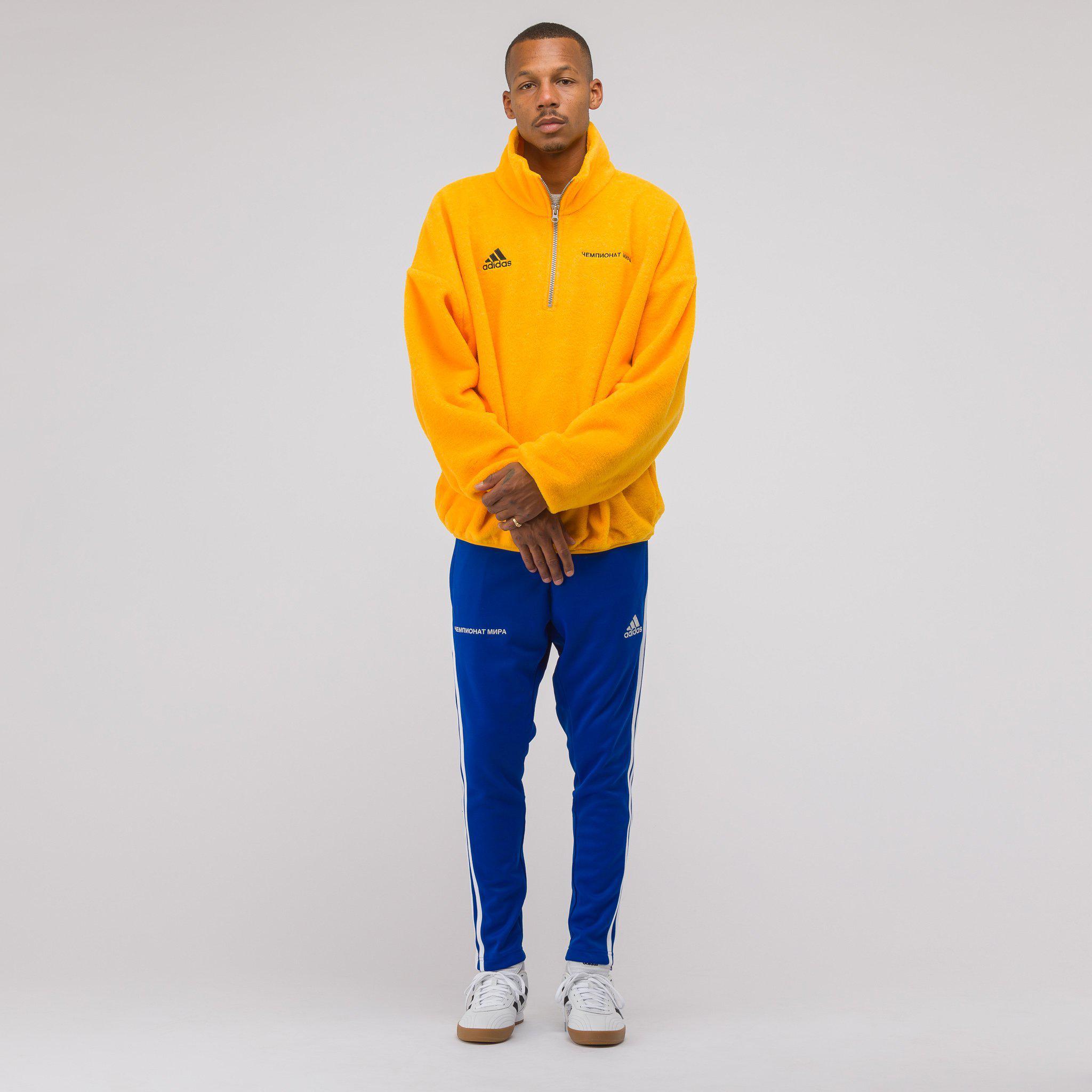 gosha rubchinskiy x adidas fleece top