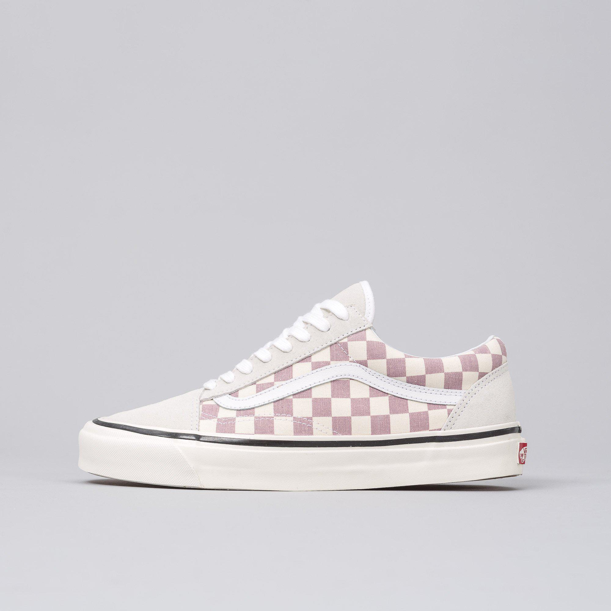 ce04646ece16ba Lyst - Vans Old Skool 36 Dx Anaheim Factory In Purple Checkerboard ...