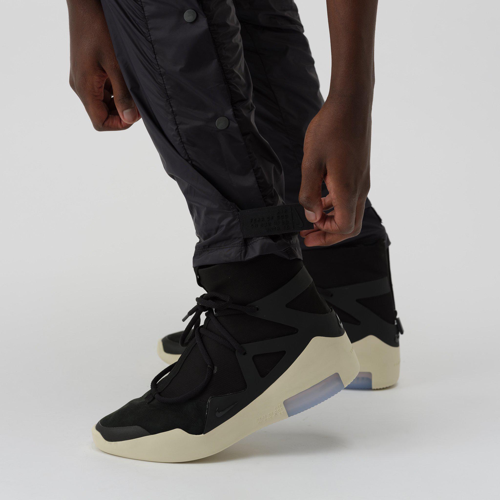 Nike Synthetic X Fear Of God Pants In Black For Men Lyst