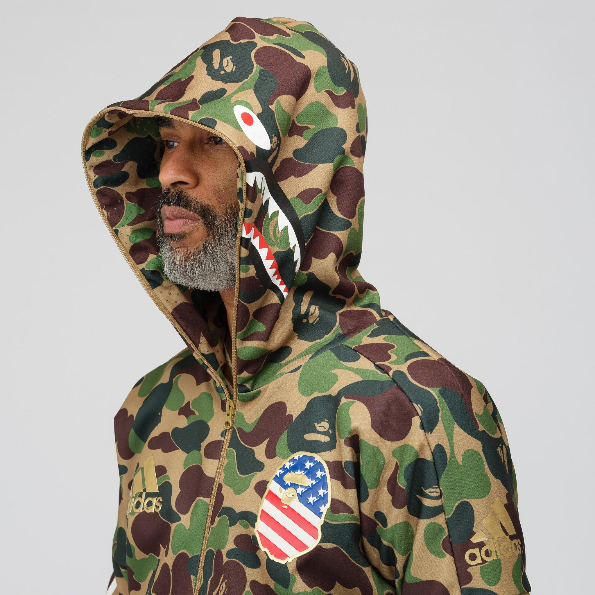 get new classic fit pretty cheap X Bape Shark Hoodie In Multicolor
