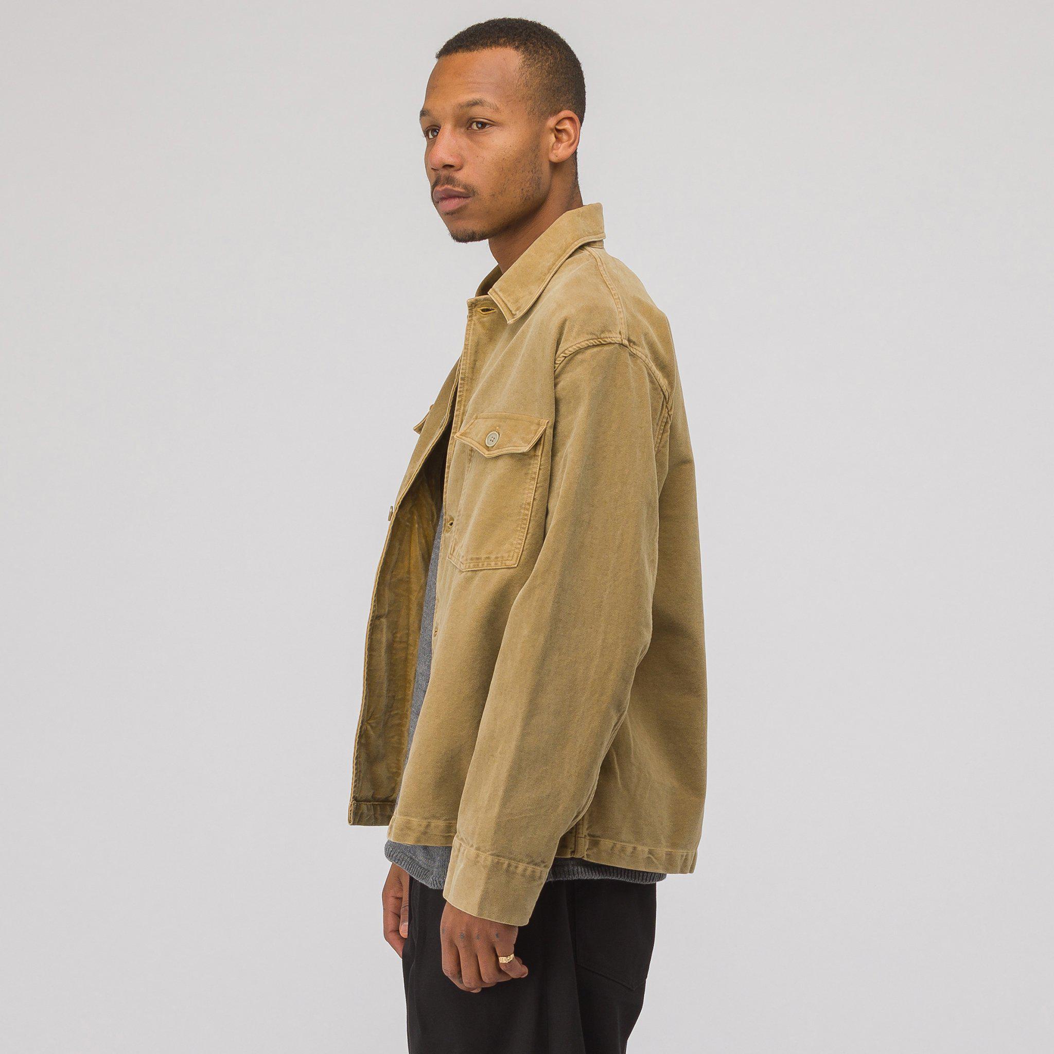 67c7579fb Our Legacy Natural Evening Coach Jacket In Camel Vintage Moleskin for men