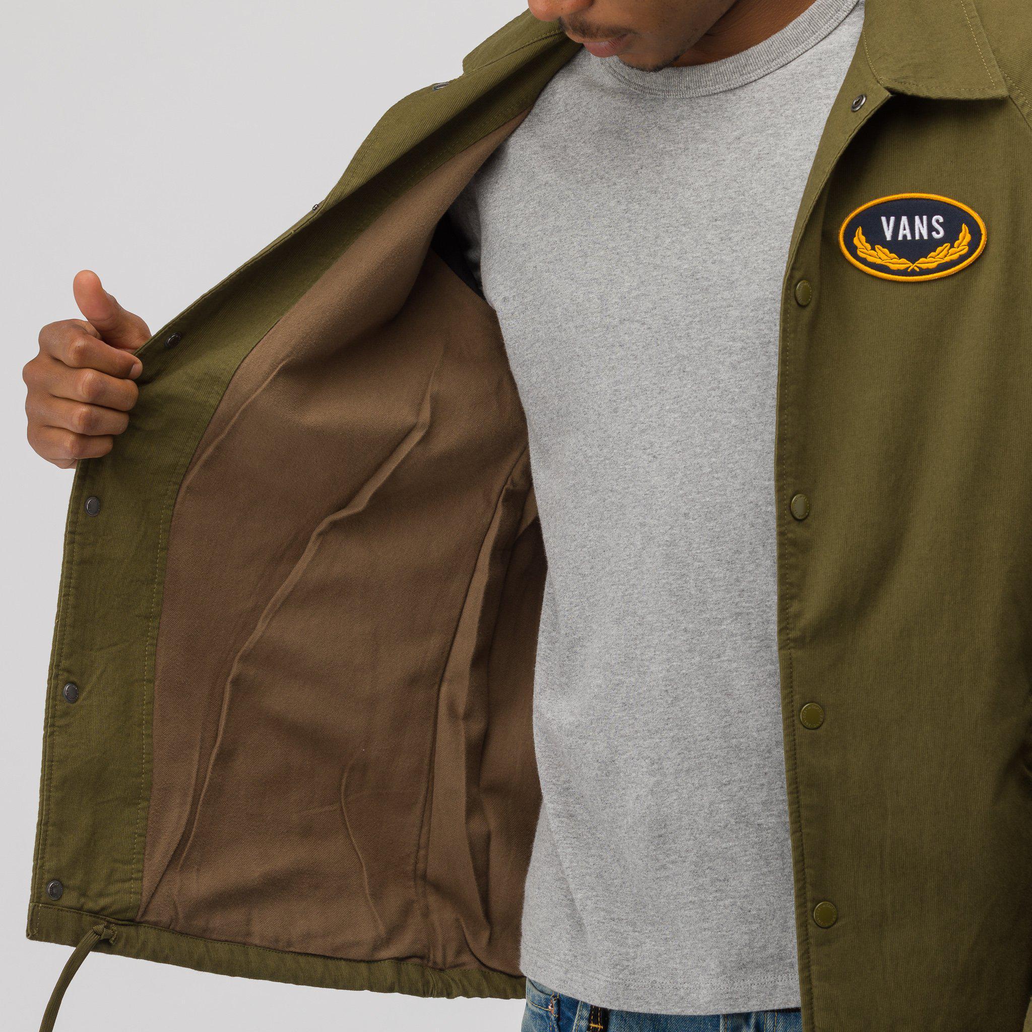 b28e1363d7c8 Lyst - Vans X Wtaps Torrey Coaches Jacket In Olive in Green for Men