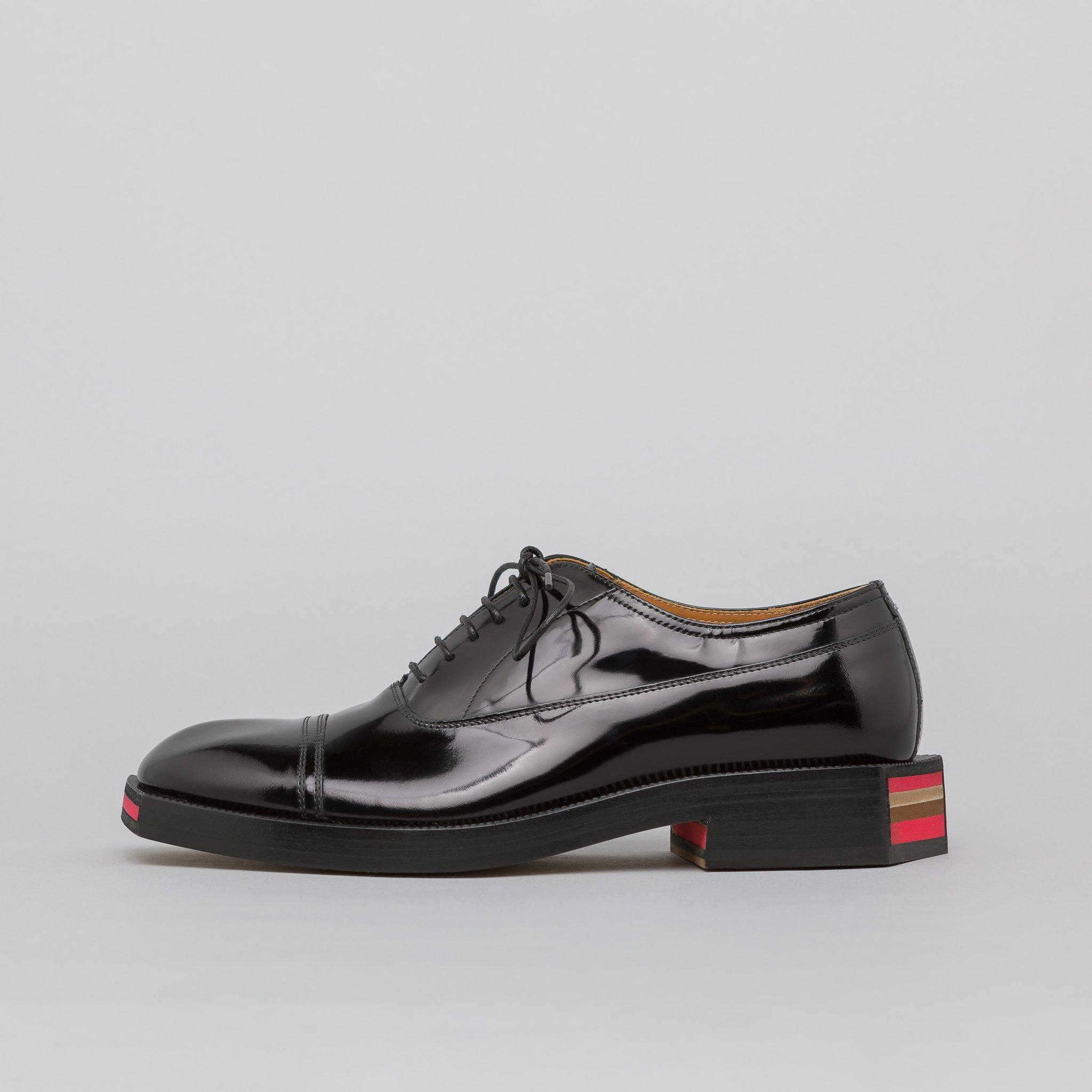 4177f399a00 Lyst - Maison Margiela Patent Leather Derby Shoe In Black in Black ...