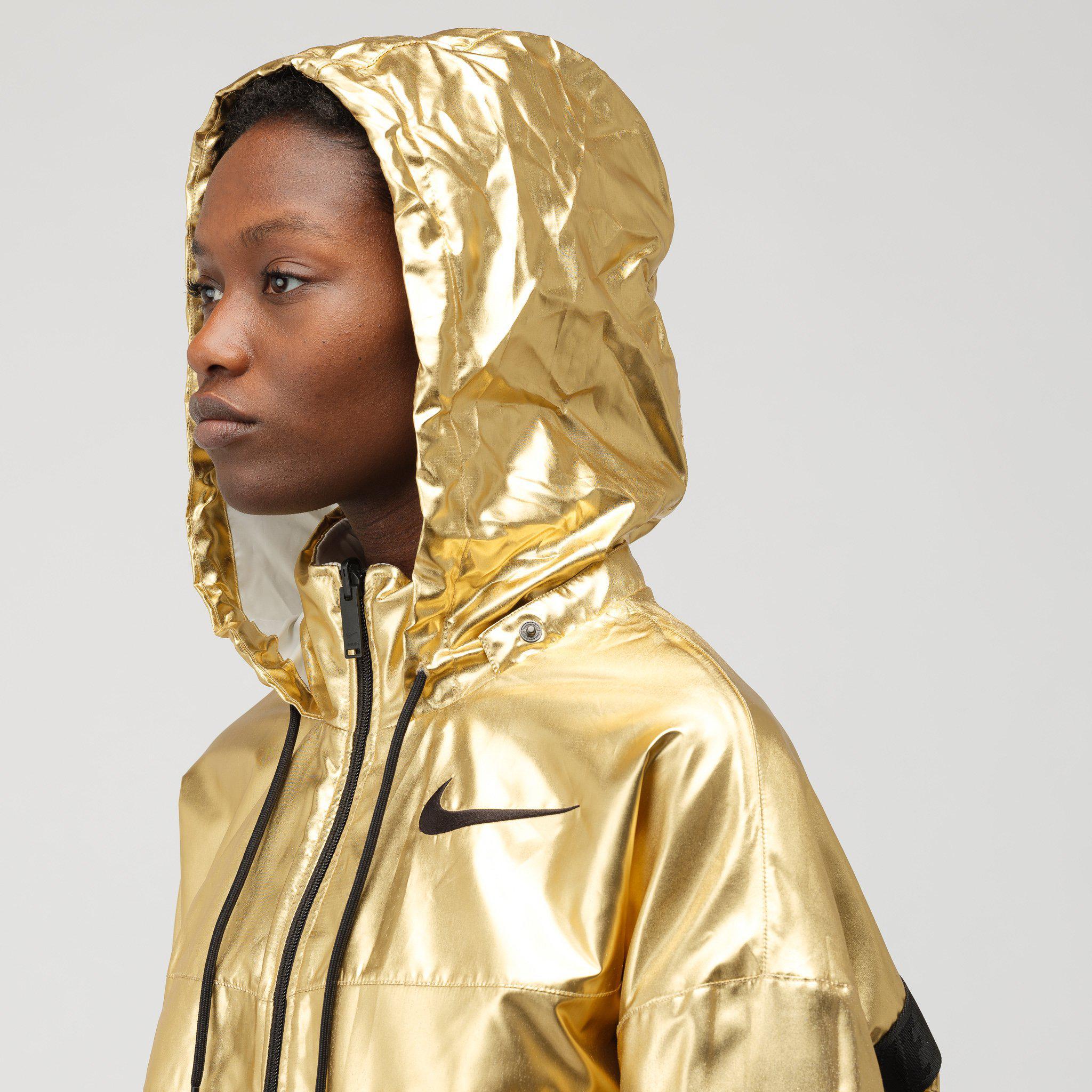 Nike Metallic X Ambush Women's Reversible Jacket In Phantomgold Foil for men