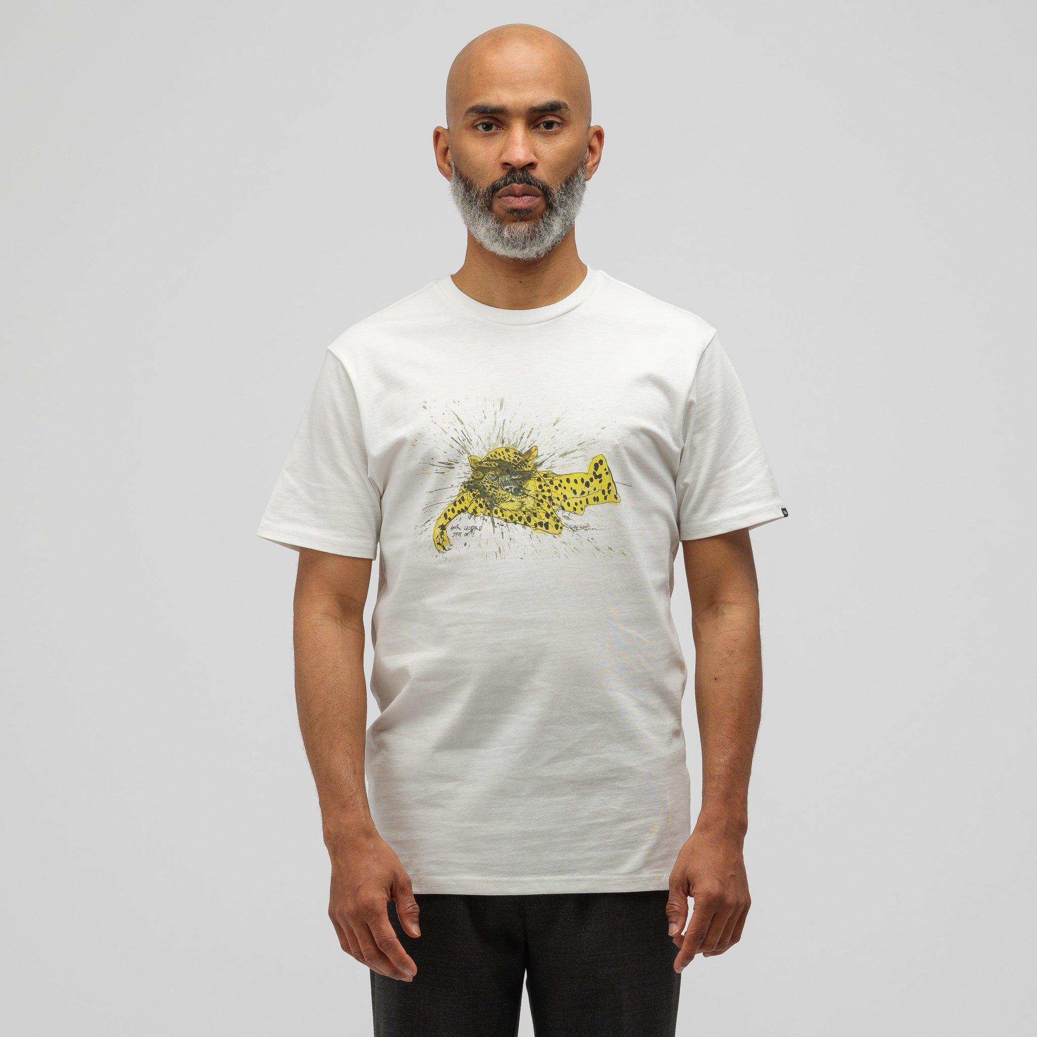 amazon pick up brand new Vans Cotton X Ralph Steadman Amur Leopard T-shirt In White for Men ...