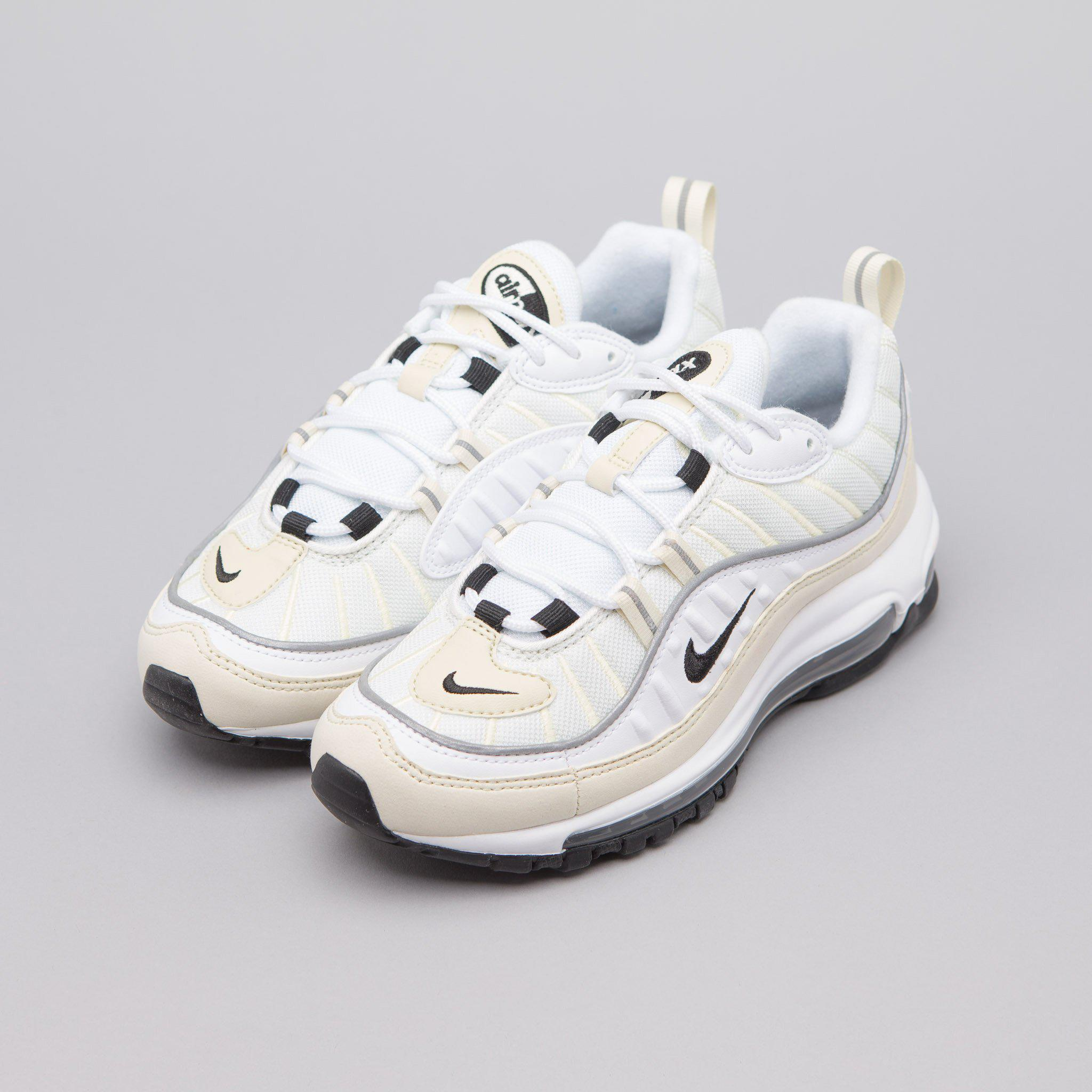 reputable site dbe0e 2d090 Women's Air Max 98 In White/black/fossil