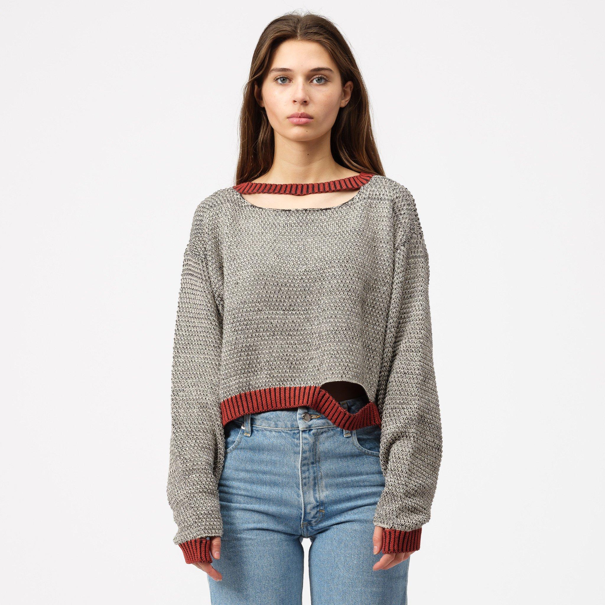 Eckhaus Latta Cotton Wiggly Road Sweater In Black