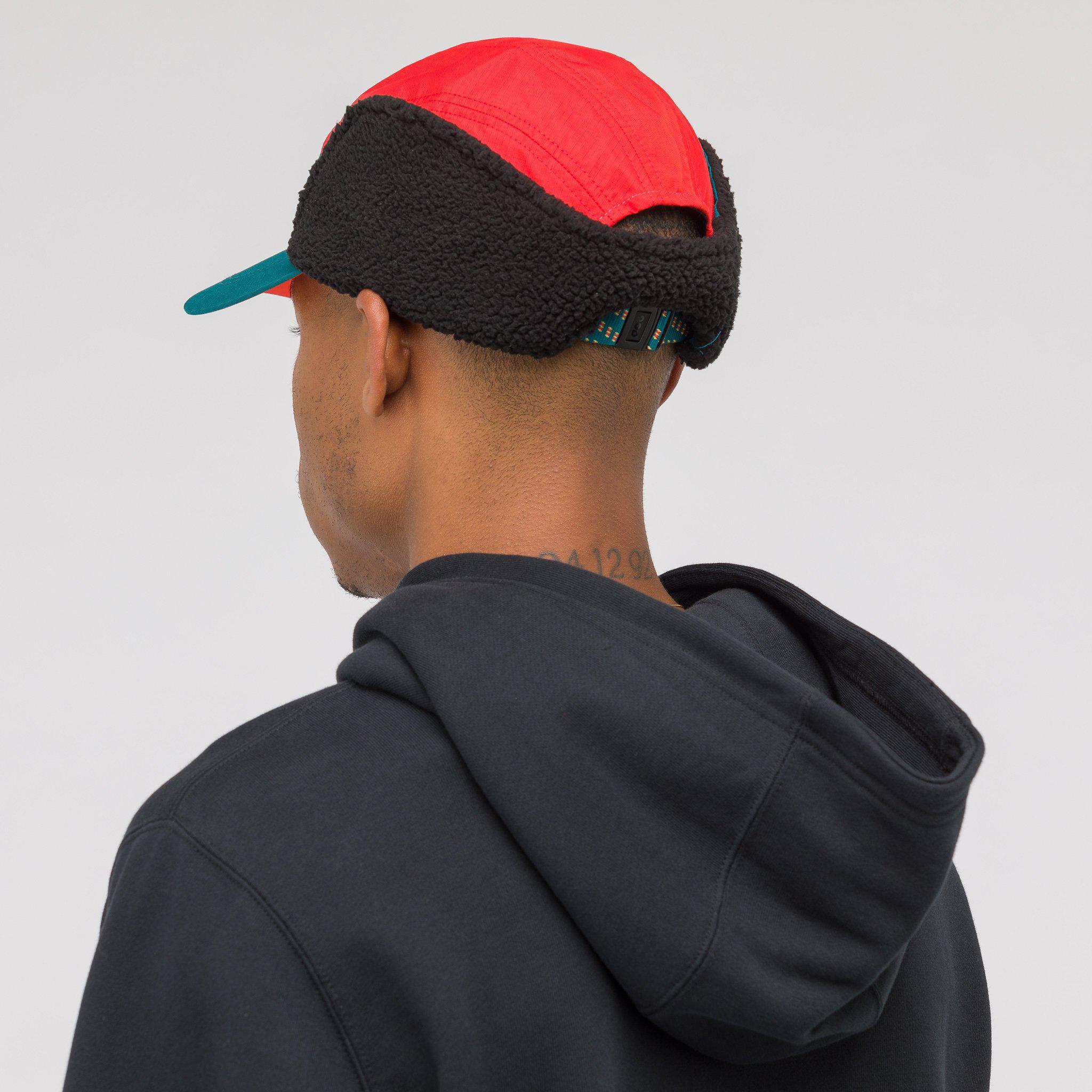 90dd91ba Nike Acg Tailwind Sherpa Hat In Teal/red in Blue for Men - Lyst
