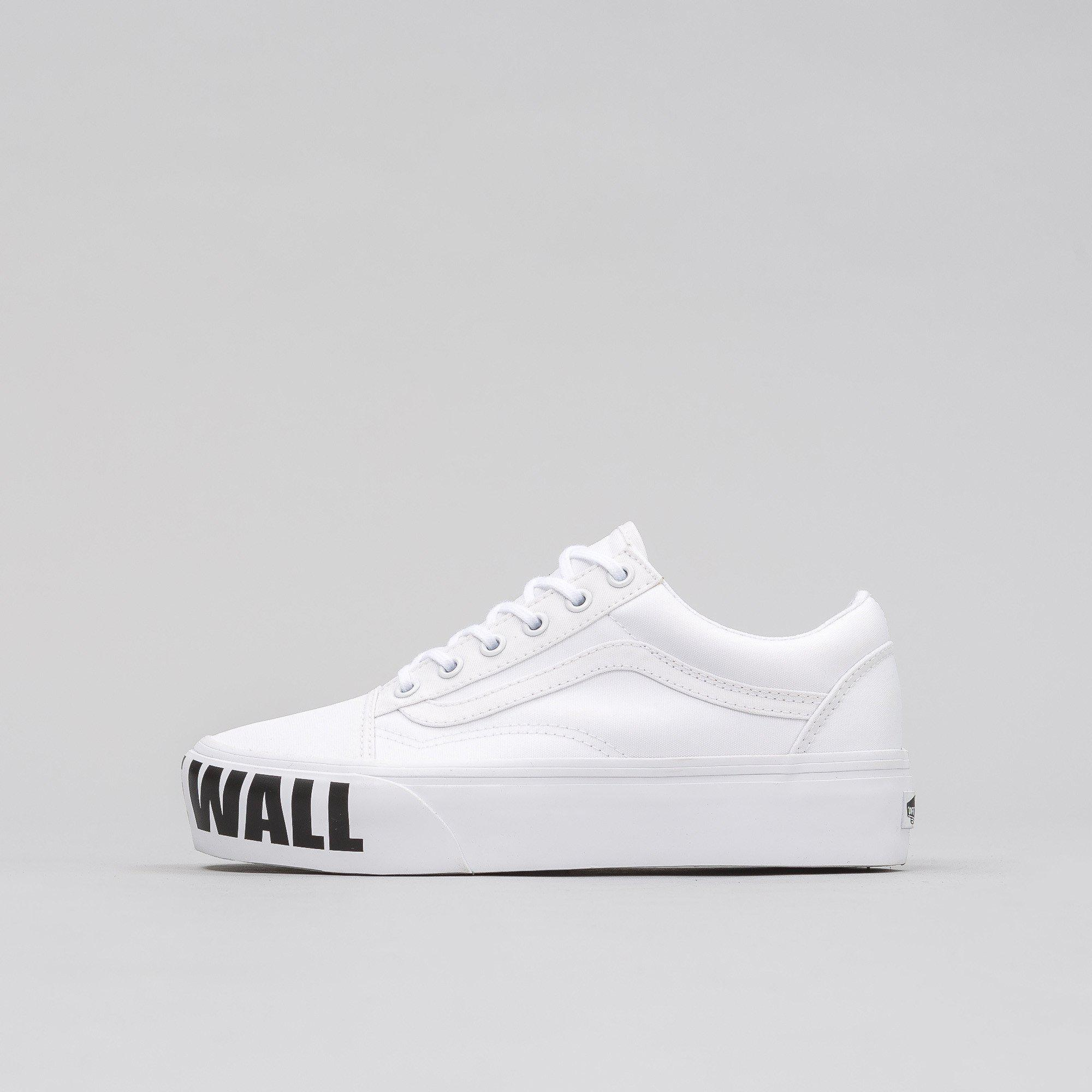 Vans Canvas Old Skool Platform Off The Wall in White for Men - Lyst