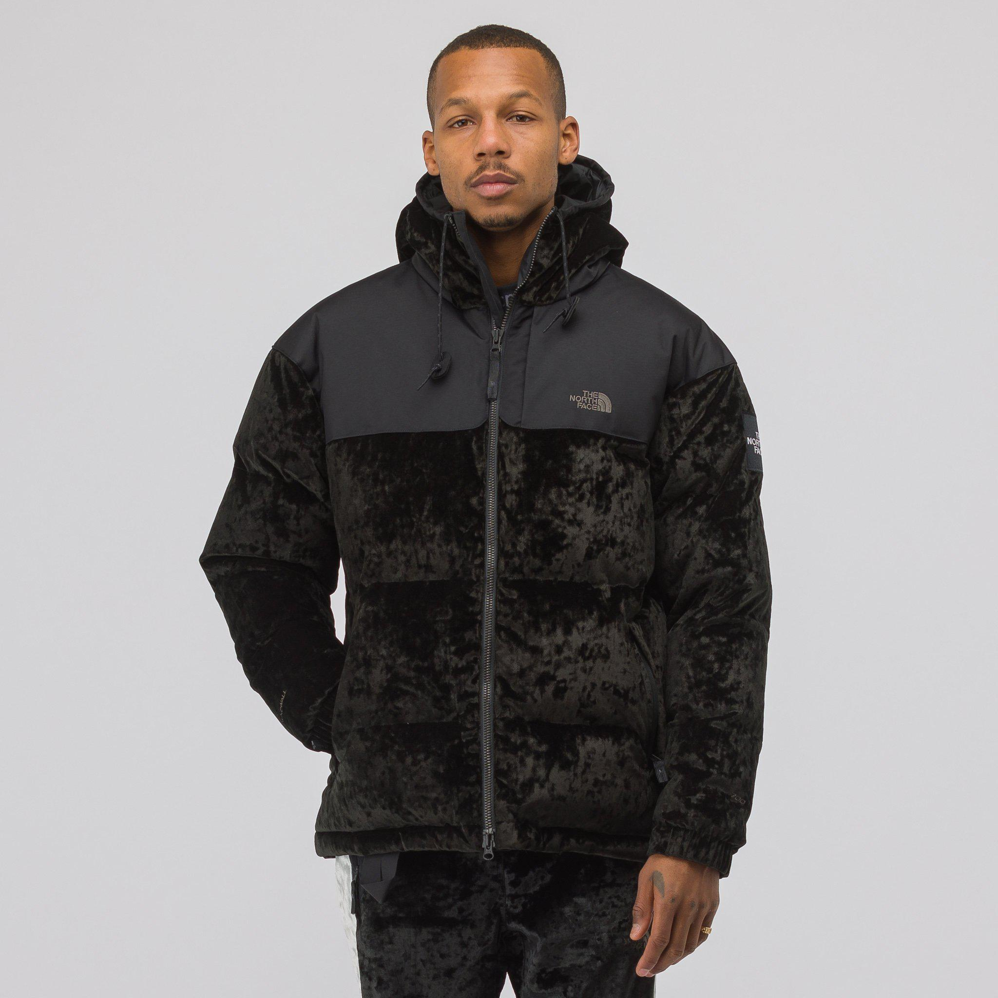Lyst - The North Face Nuptse Velvet Feather Down Hooded Jacket in ... d5540ec1eee6