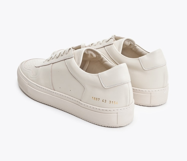 common projects bball low leather sneakers in white for men lyst. Black Bedroom Furniture Sets. Home Design Ideas