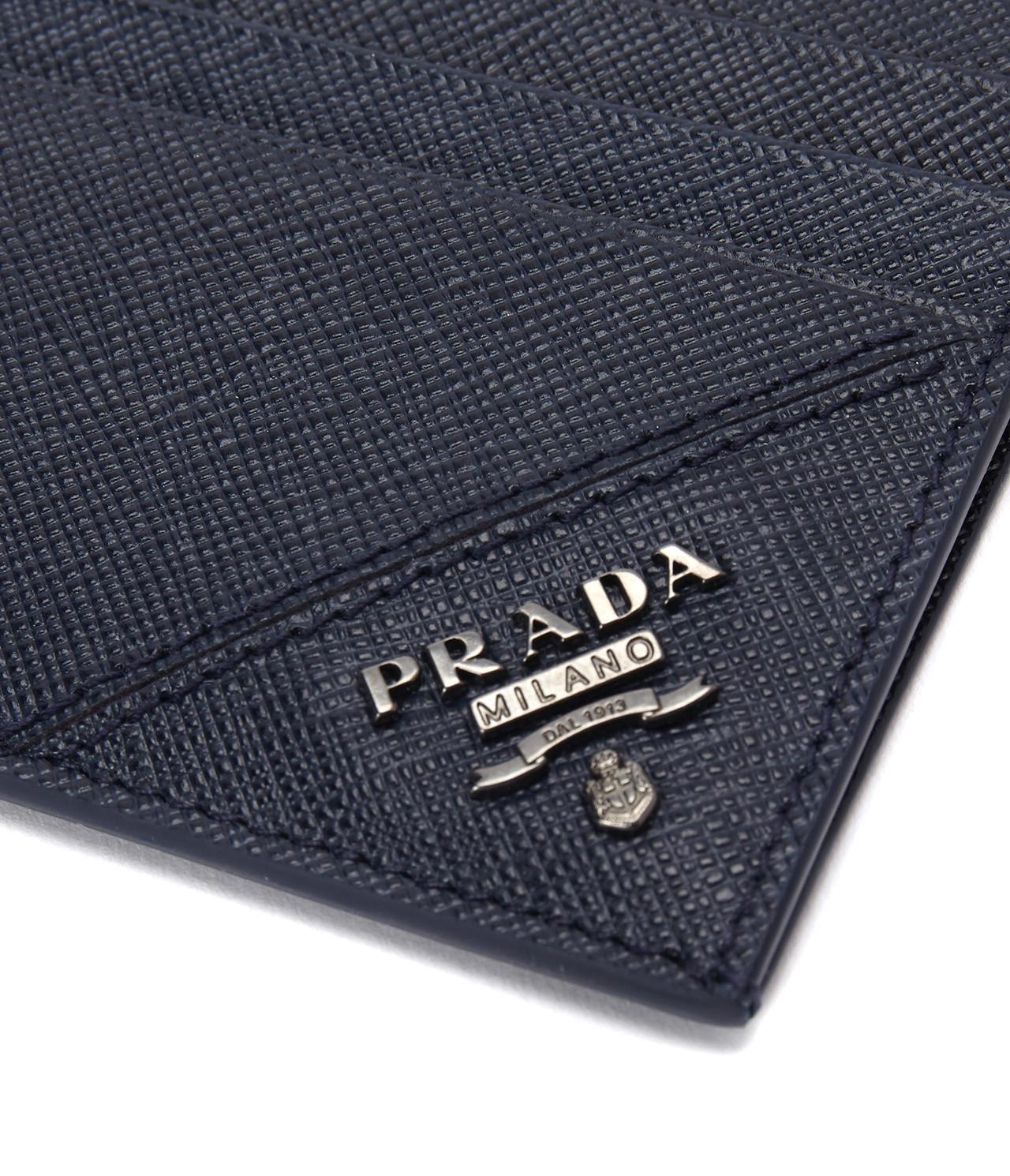 2ec048c8f27895 ... new zealand lyst prada 17ss mens card holder saffiano metal baltico in  blue 85875 554e4
