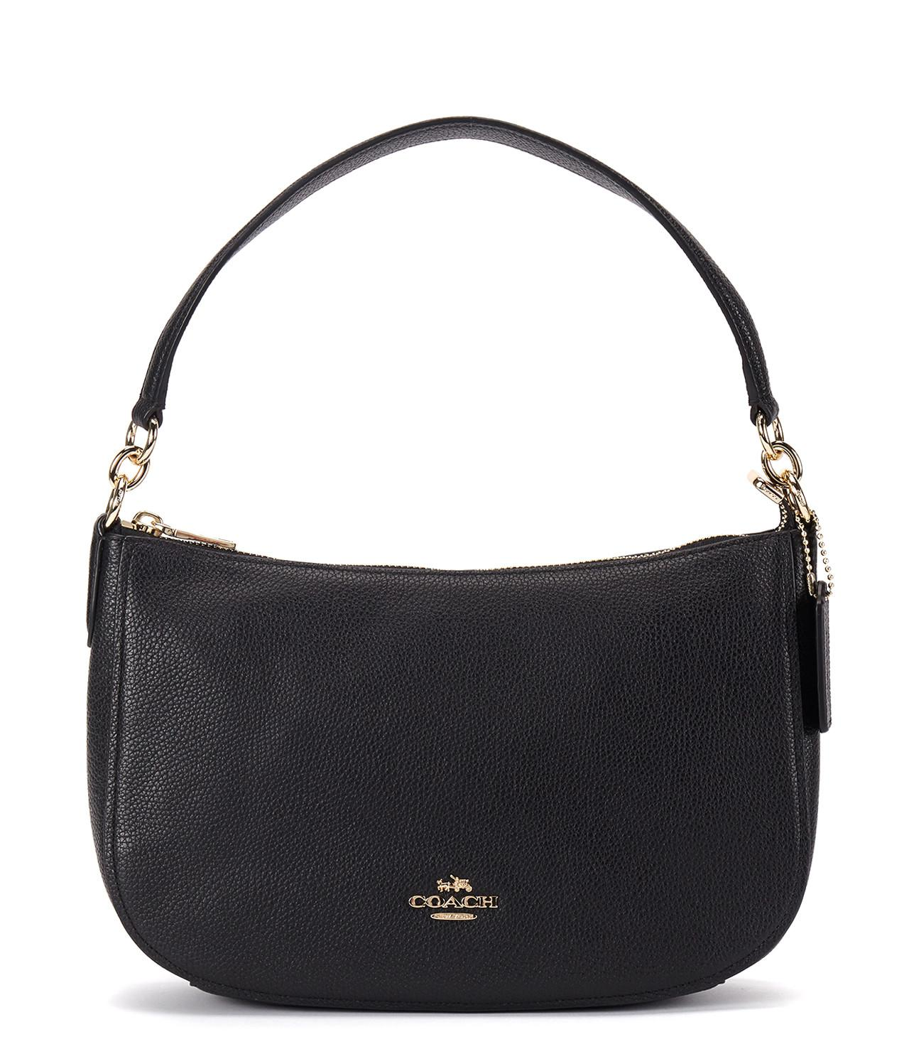 COACH - Black Chelsy Graned Leather - Lyst. View fullscreen 95b5bab299b79
