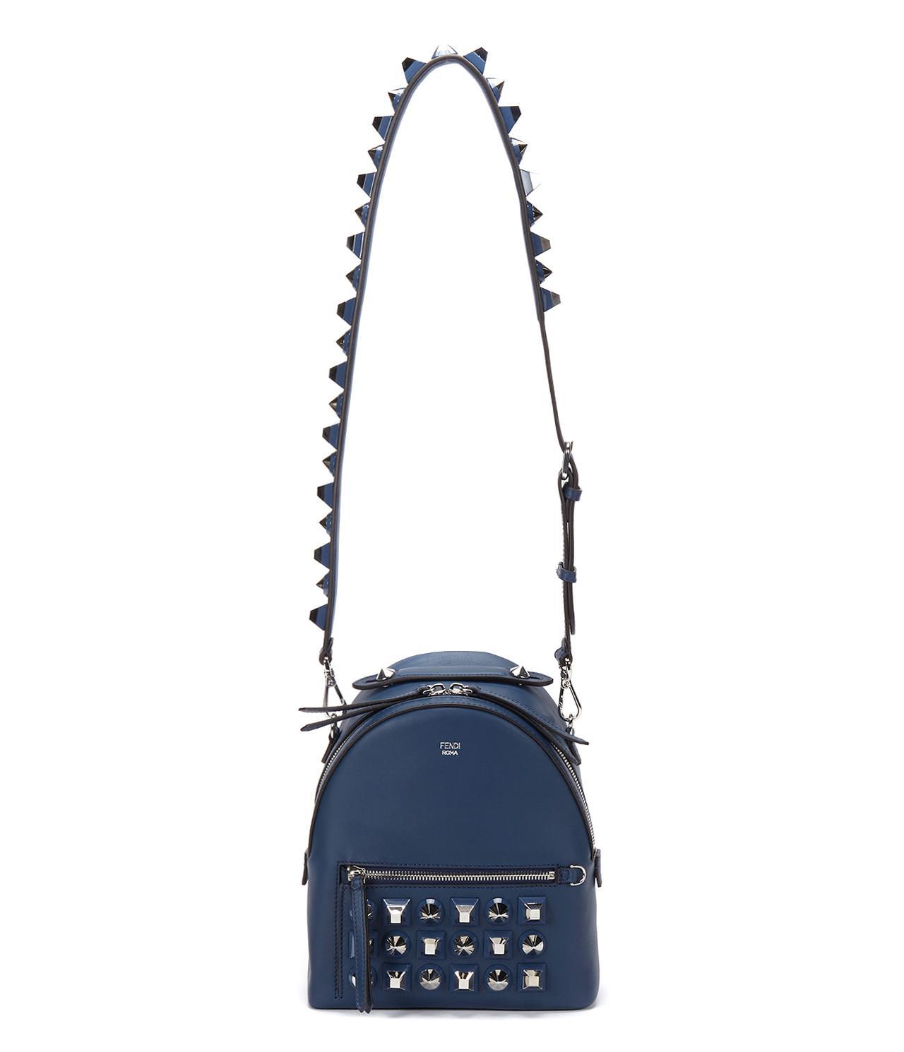 208c9ffdbde2 Fendi 17ss Women s Studded Mini Backpack Blue in Blue - Save 26% - Lyst