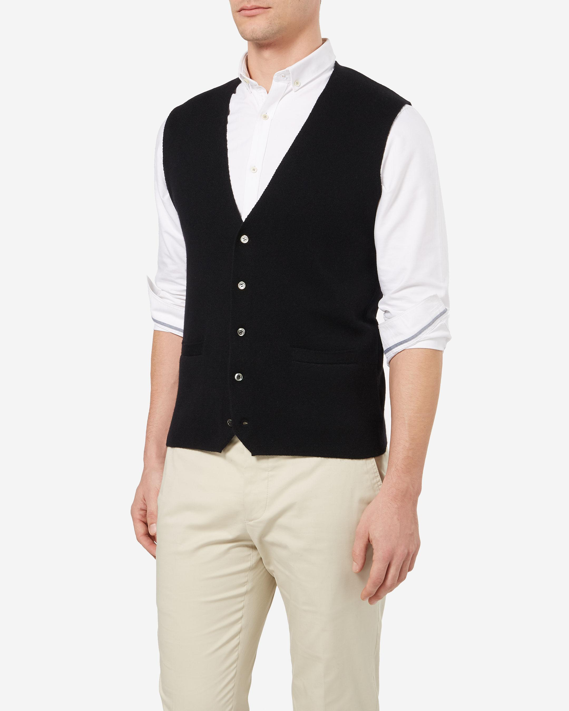 908ce33a382 N.Peal Cashmere The Chelsea Milano Cashmere Waistcoat in Black for ...