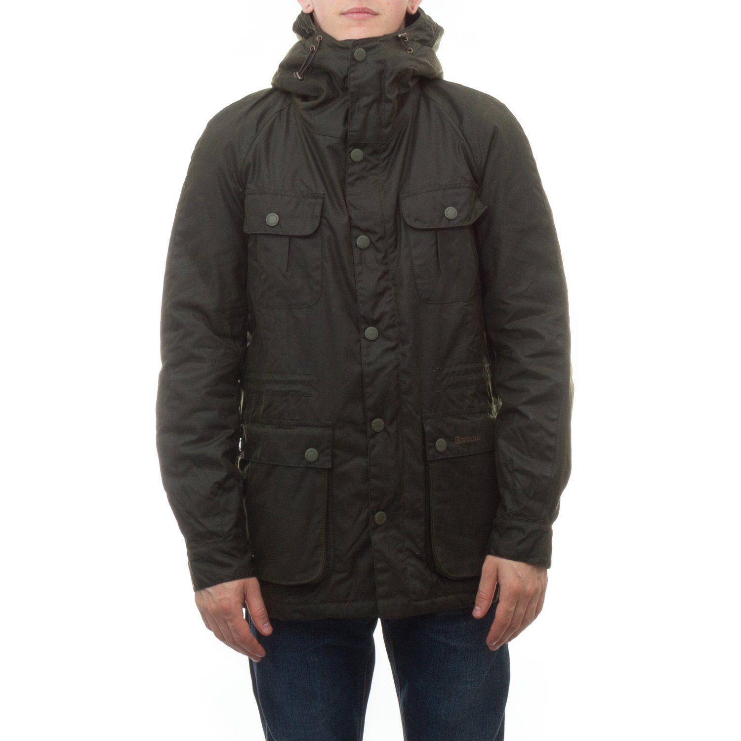 Barbour Brindle Wax Jacket in Green for Men - Lyst 408f717aad3b