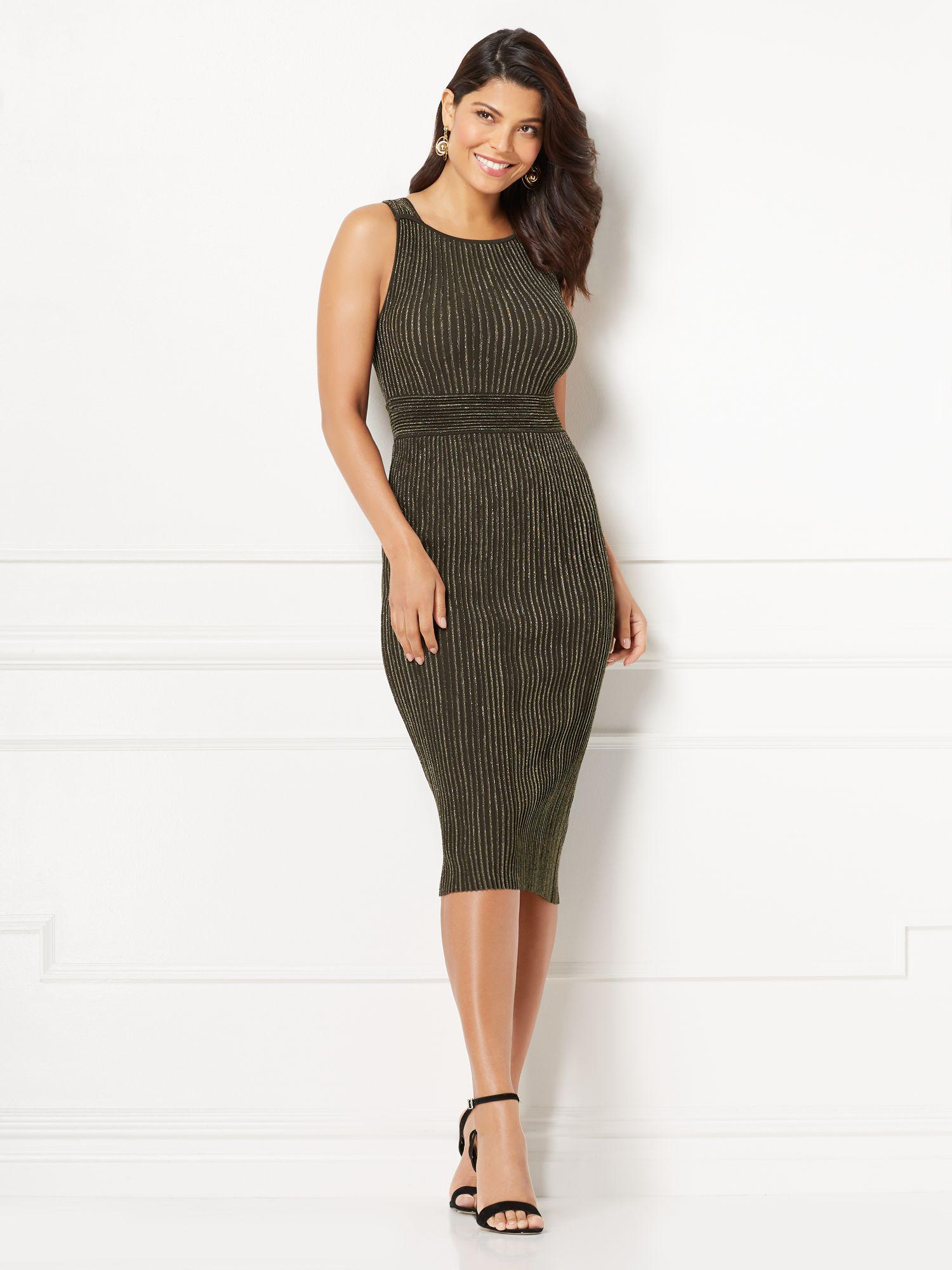 f56551c34b0 New York   Company Eva Mendes Collection - Tianna Sweater Dress - Lyst