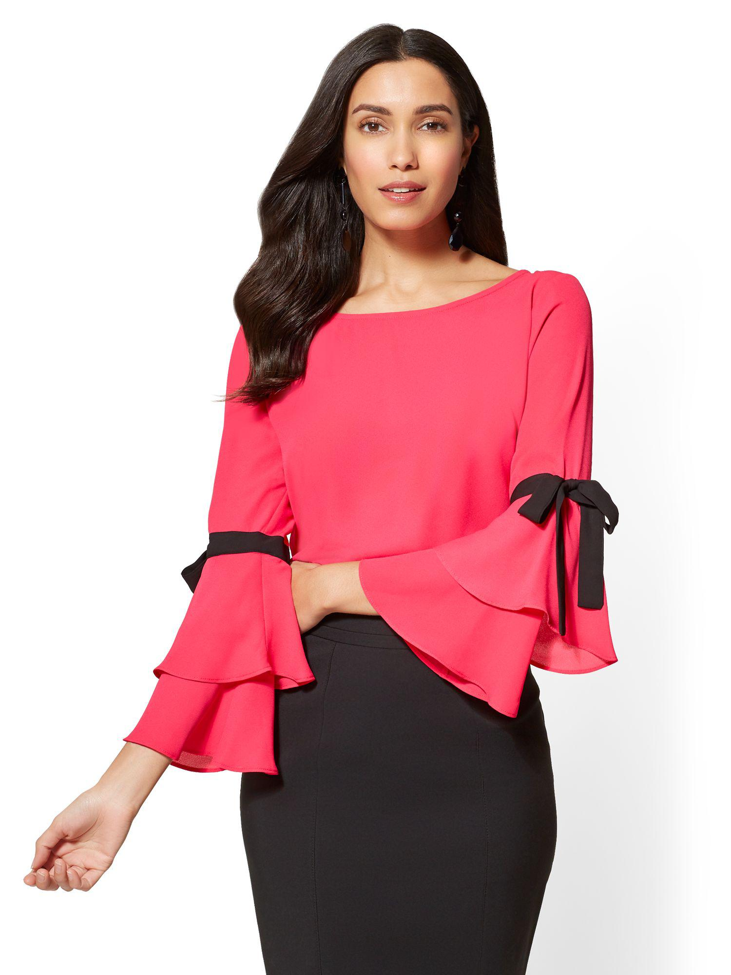 Lyst New York Company 7th Avenue Bow Accent Statement Sleeve