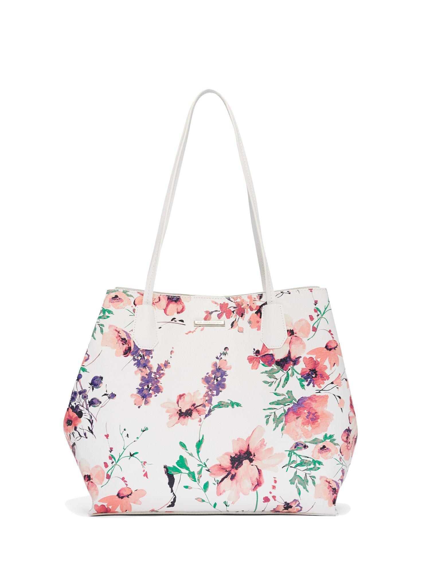 Fl Top Handle Tote Bag