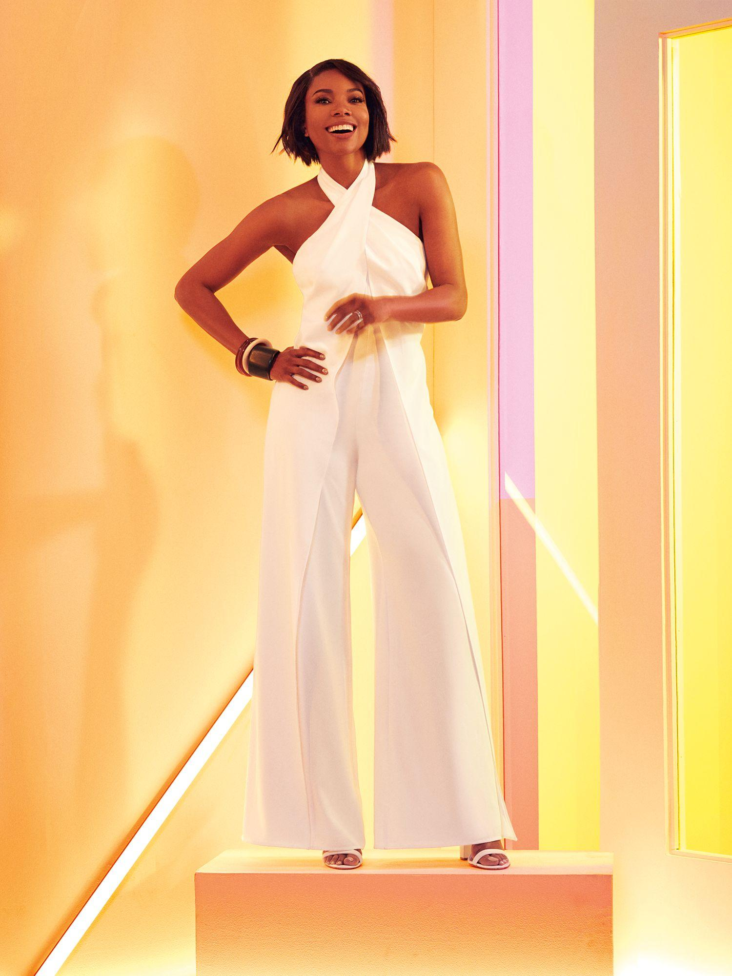 32d611f0 New York & Company Twist-front Jumpsuit - Gabrielle Union Collection ...
