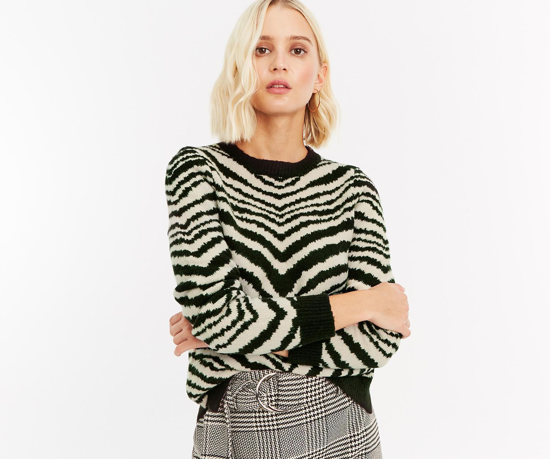 3e2fc752d65f Oasis. Women's Black Tabitha Tiger Sweater