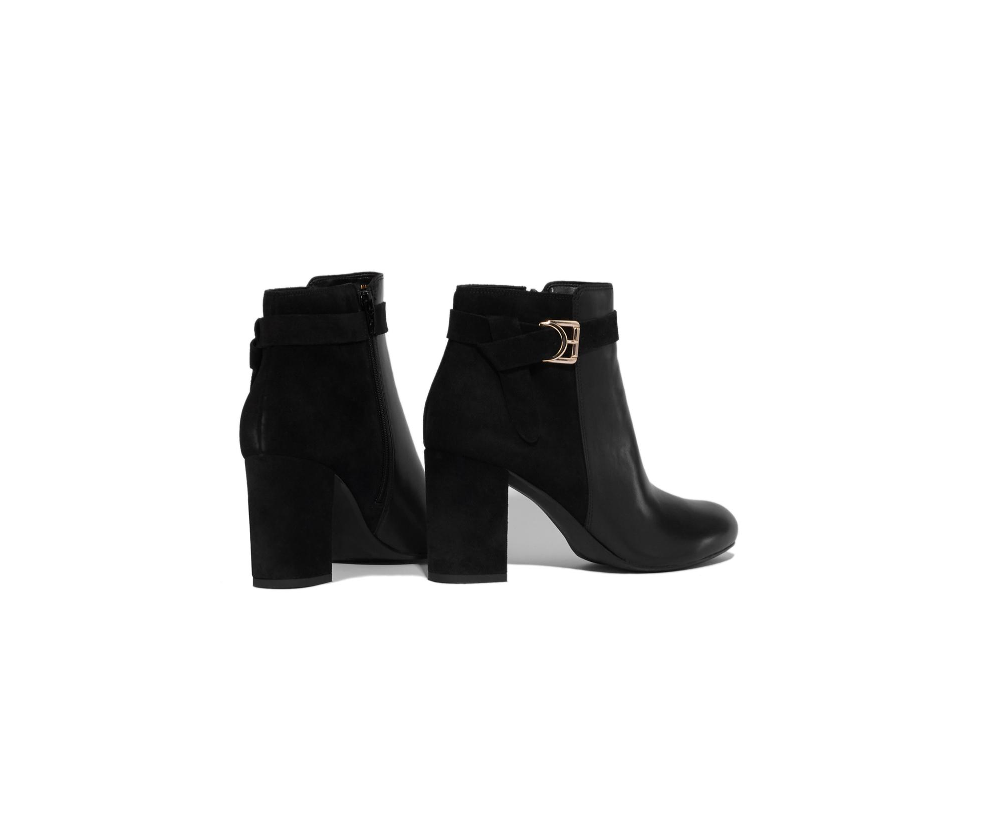 6a0cab97077d Oasis - Black Block Leather Ankle Boots - Lyst. View fullscreen